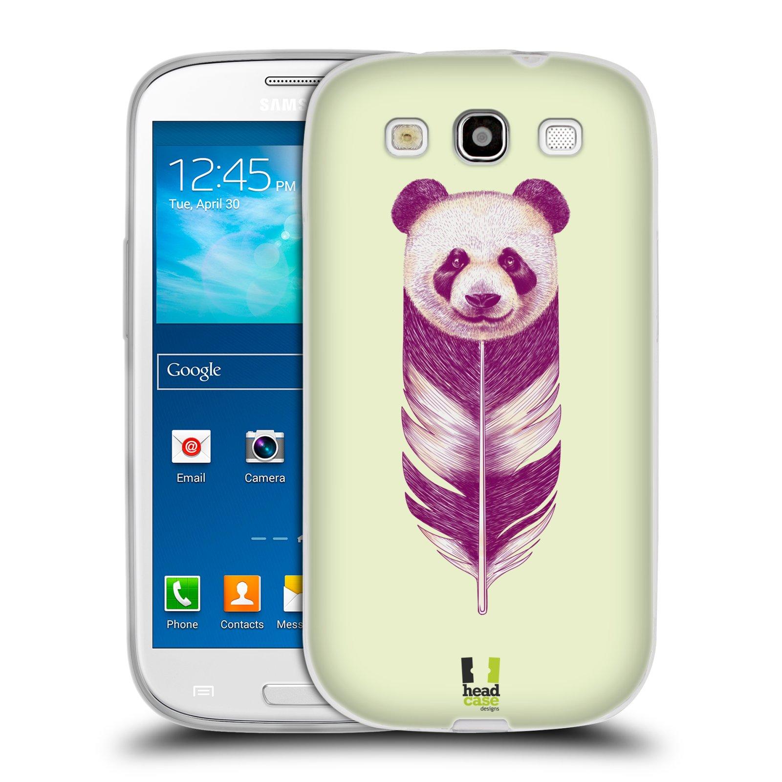 Silikonové pouzdro na mobil Samsung Galaxy S III HEAD CASE PÍRKO PANDA (Silikonový kryt či obal na mobilní telefon Samsung Galaxy S III GT-i9300)