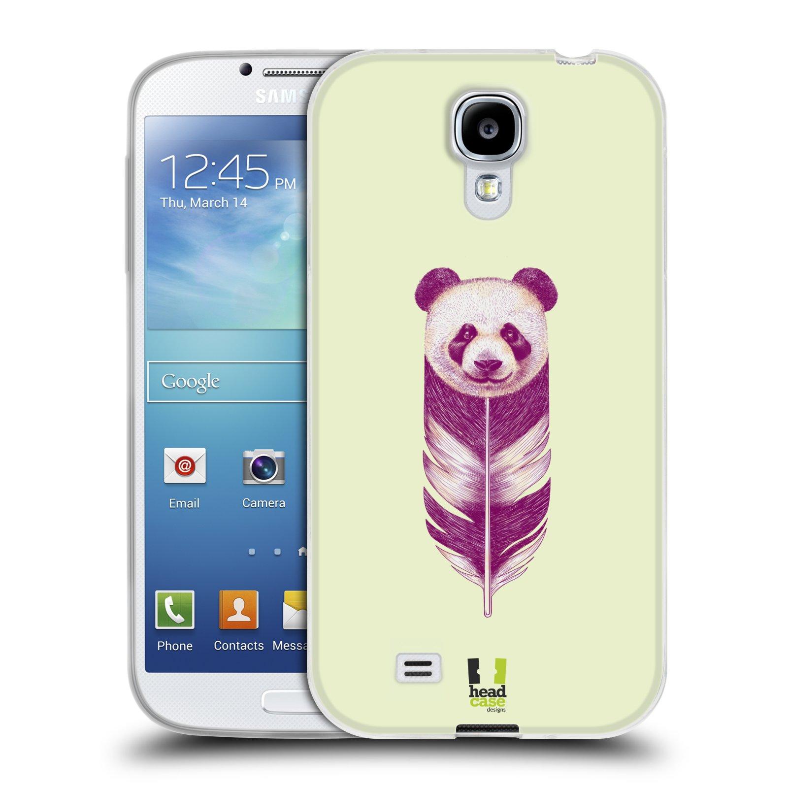 Silikonové pouzdro na mobil Samsung Galaxy S4 HEAD CASE PÍRKO PANDA (Silikonový kryt či obal na mobilní telefon Samsung Galaxy S4 GT-i9505 / i9500)
