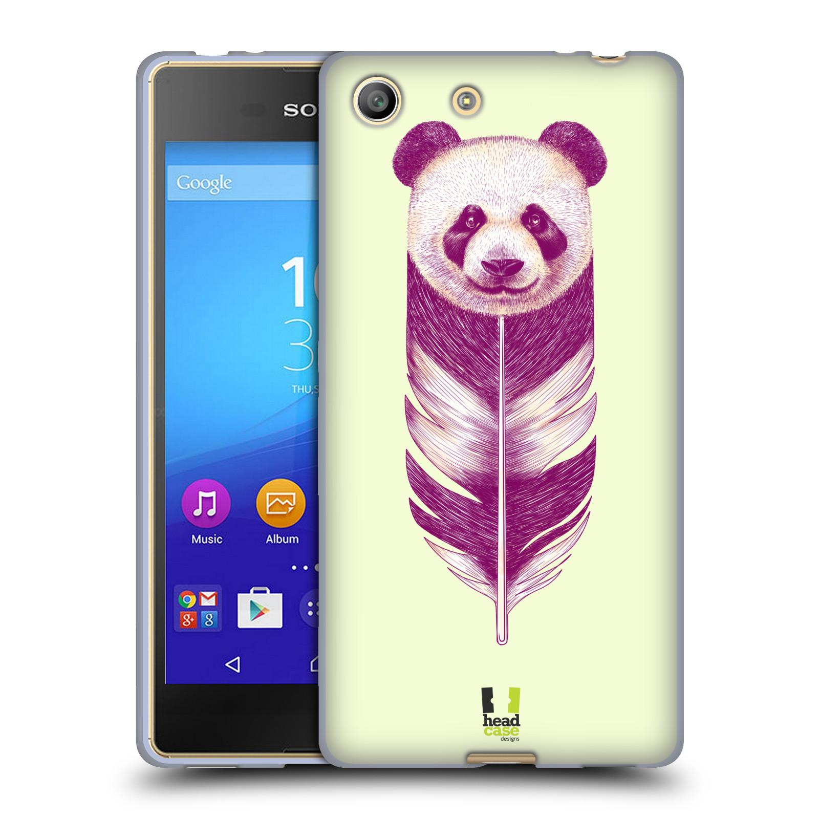 Silikonové pouzdro na mobil Sony Xperia M5 HEAD CASE PÍRKO PANDA (Silikonový kryt či obal na mobilní telefon Sony Xperia M5 Dual SIM / Aqua)