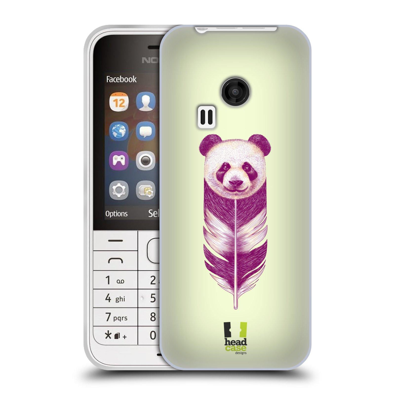 Silikonové pouzdro na mobil Nokia 220 HEAD CASE PÍRKO PANDA (Silikonový kryt či obal na mobilní telefon Nokia 220 a 220 Dual SIM)