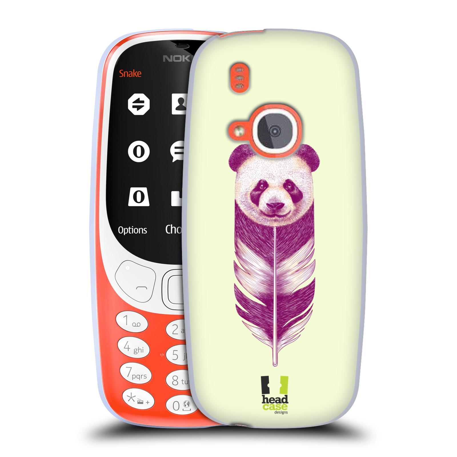 Silikonové pouzdro na mobil Nokia 3310 - Head Case - PÍRKO PANDA (Silikonový kryt či obal na mobilní telefon Nokia 3310 (2017) s motivem PÍRKO PANDA)