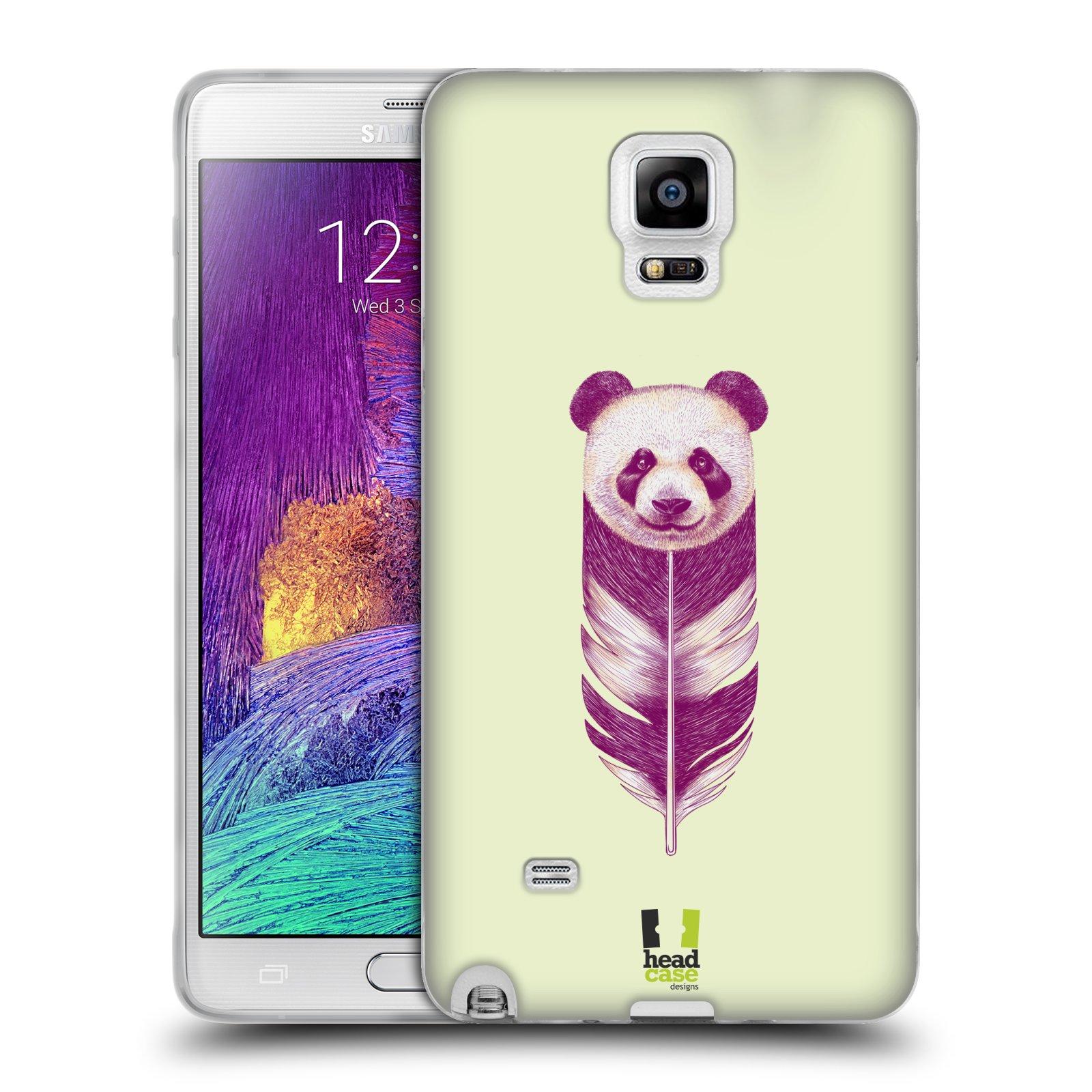 Silikonové pouzdro na mobil Samsung Galaxy Note 4 HEAD CASE PÍRKO PANDA (Silikonový kryt či obal na mobilní telefon Samsung Galaxy Note 4 SM-N910F)