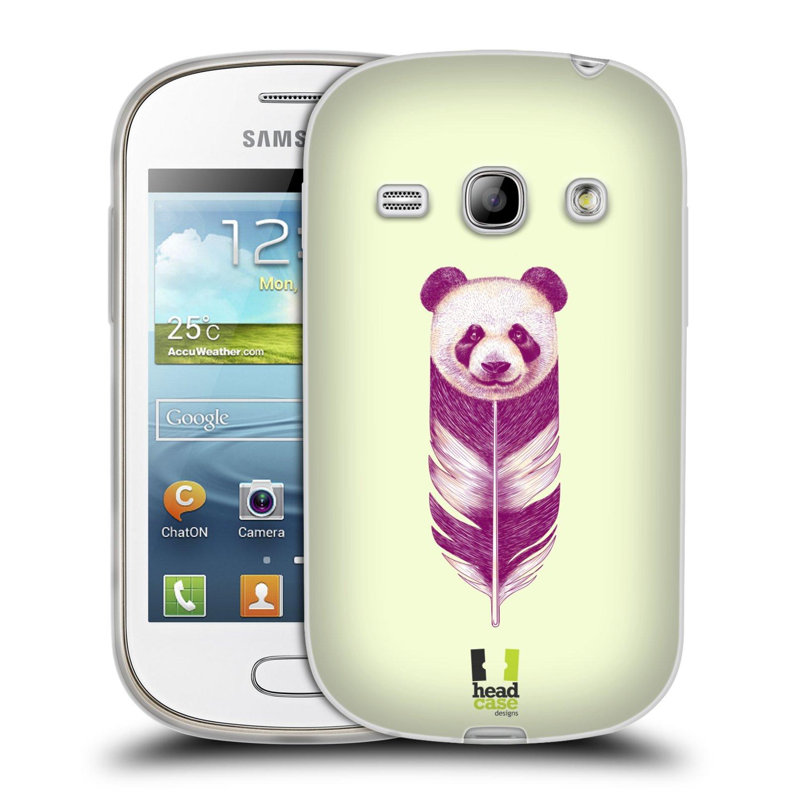 Silikonové pouzdro na mobil Samsung Galaxy Fame HEAD CASE PÍRKO PANDA (Silikonový kryt či obal na mobilní telefon Samsung Galaxy Fame GT-S6810)