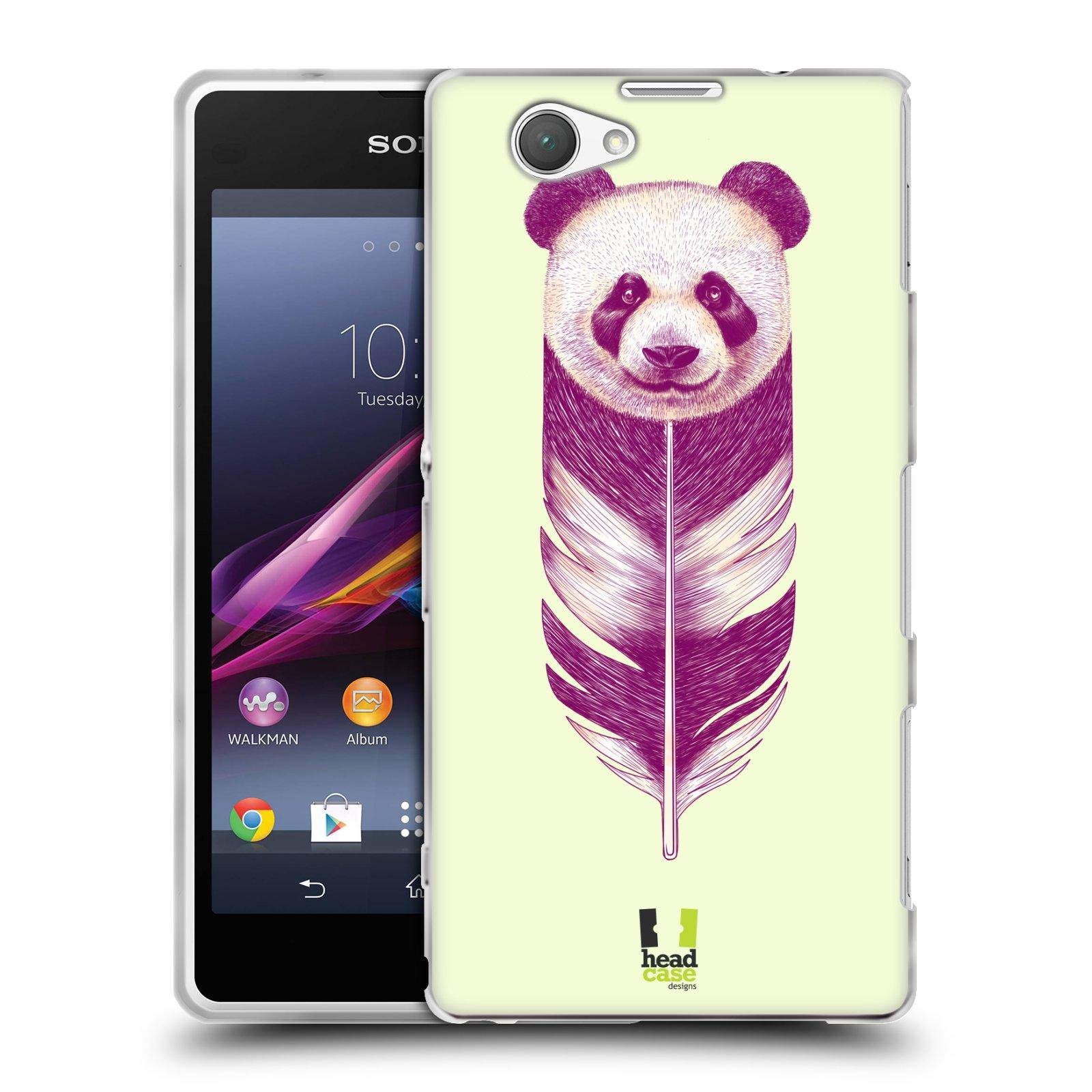 Silikonové pouzdro na mobil Sony Xperia Z1 Compact D5503 HEAD CASE PÍRKO PANDA (Silikonový kryt či obal na mobilní telefon Sony Xperia Z1 Compact)