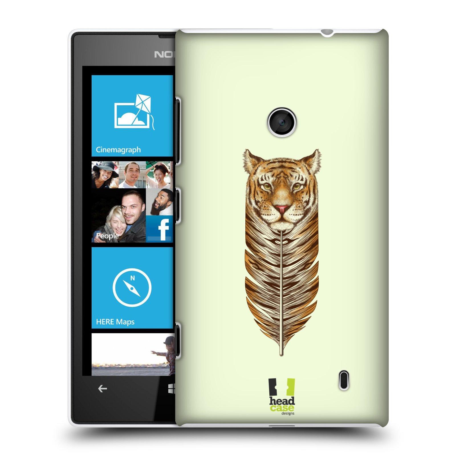 Plastové pouzdro na mobil Nokia Lumia 520 HEAD CASE PÍRKO TYGR (Kryt či obal na mobilní telefon Nokia Lumia 520 )