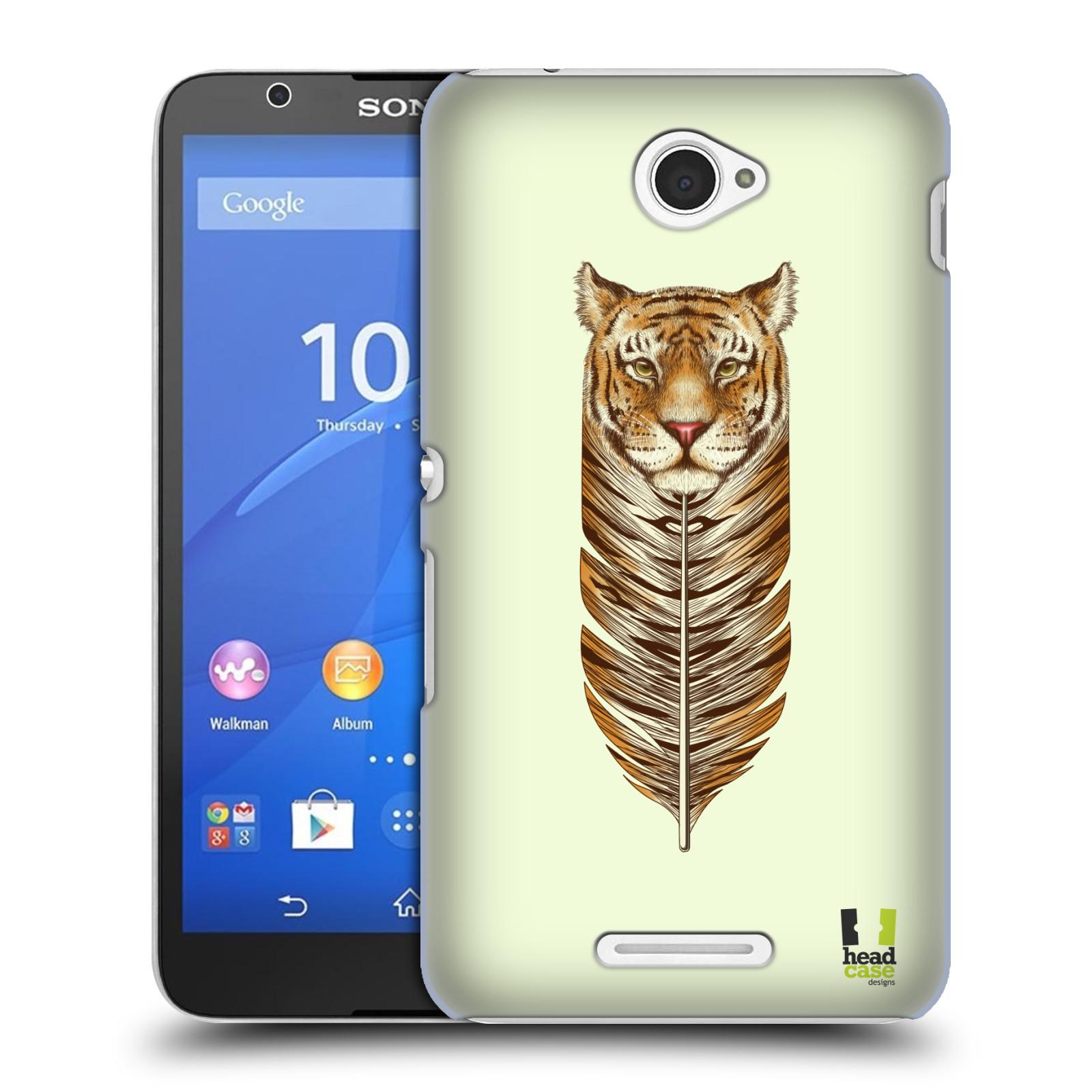 Plastové pouzdro na mobil Sony Xperia E4 E2105 HEAD CASE PÍRKO TYGR (Kryt či obal na mobilní telefon Sony Xperia E4 a E4 Dual SIM)