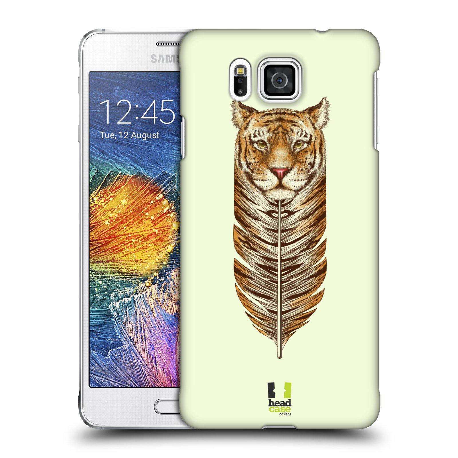 Plastové pouzdro na mobil Samsung Galaxy Alpha HEAD CASE PÍRKO TYGR (Kryt či obal na mobilní telefon Samsung Galaxy Alpha SM-G850)