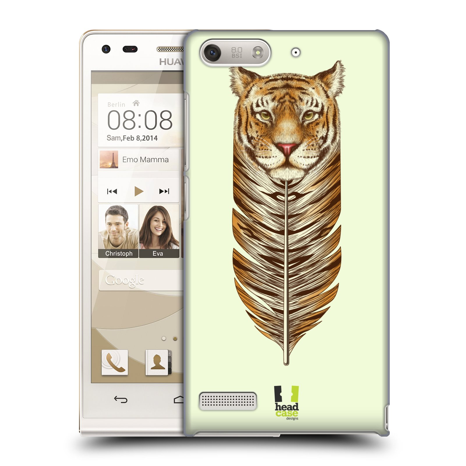 Plastové pouzdro na mobil Huawei Ascend G6 HEAD CASE PÍRKO TYGR (Kryt či obal na mobilní telefon Huawei Ascend G6 bez LTE)