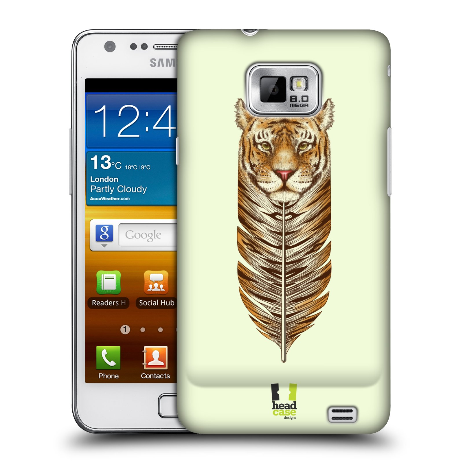 Plastové pouzdro na mobil Samsung Galaxy S II HEAD CASE PÍRKO TYGR (Kryt či obal na mobilní telefon Samsung Galaxy S II GT-i9100)