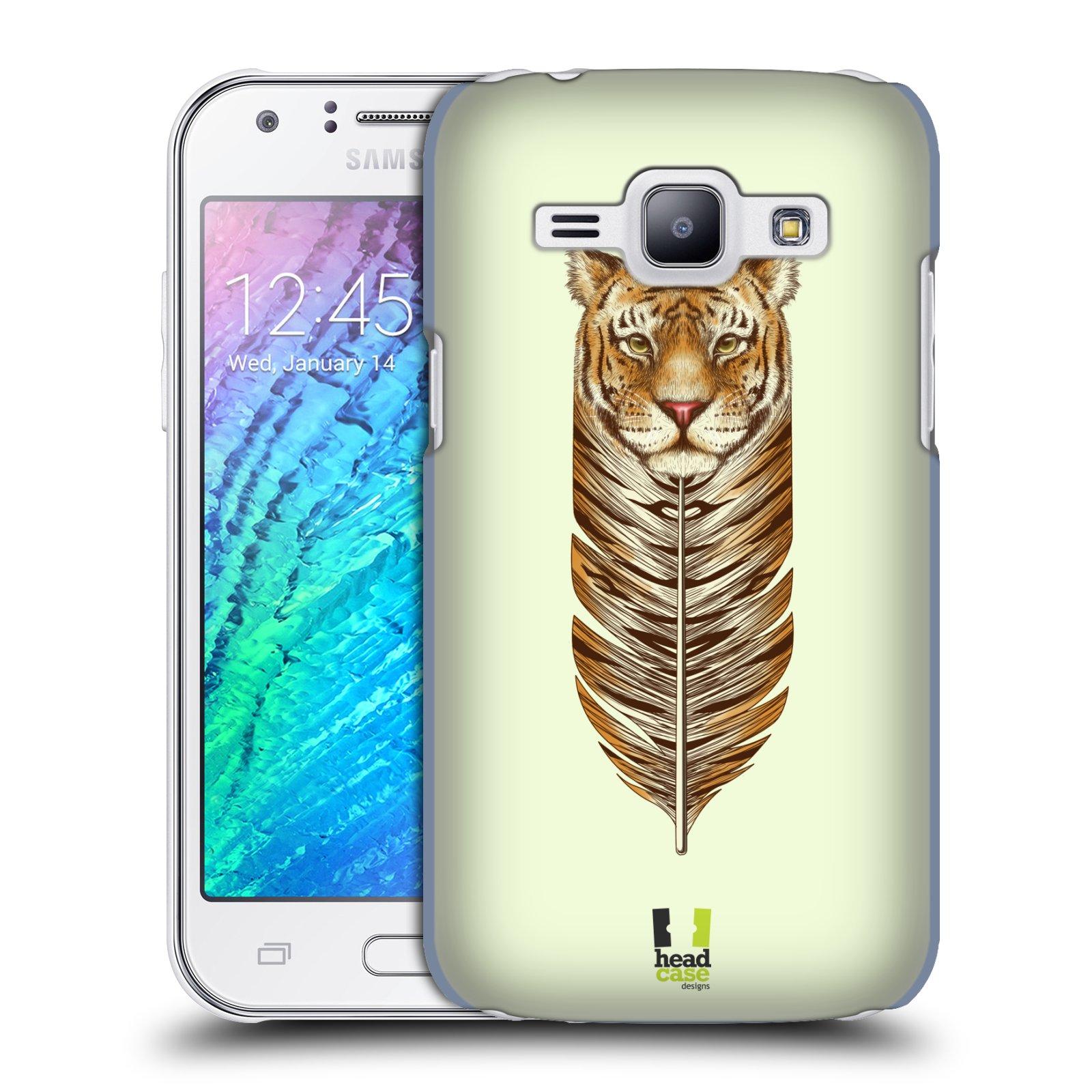 Plastové pouzdro na mobil Samsung Galaxy J1 HEAD CASE PÍRKO TYGR (Kryt či obal na mobilní telefon Samsung Galaxy J1 a J1 Duos )