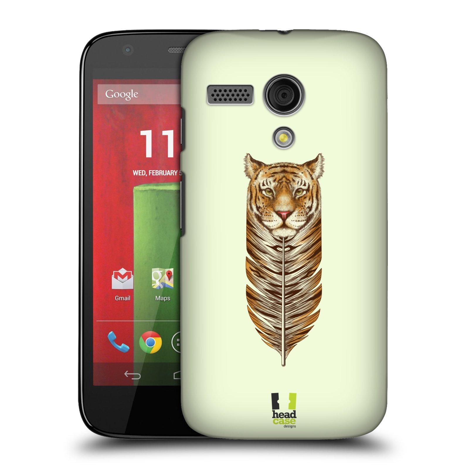 Plastové pouzdro na mobil Motorola Moto G HEAD CASE PÍRKO TYGR (Kryt či obal na mobilní telefon Motorola Moto G)