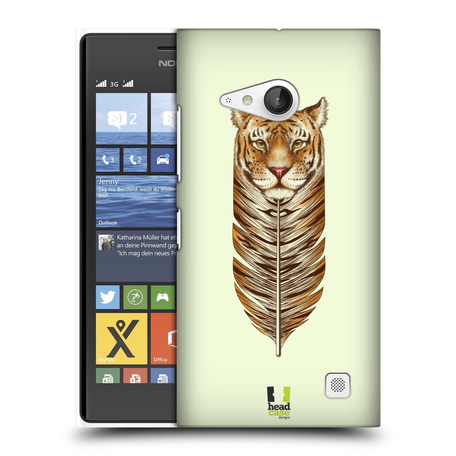 Plastové pouzdro na mobil Nokia Lumia 730 Dual SIM HEAD CASE PÍRKO TYGR (Kryt či obal na mobilní telefon Nokia Lumia 730 Dual SIM)