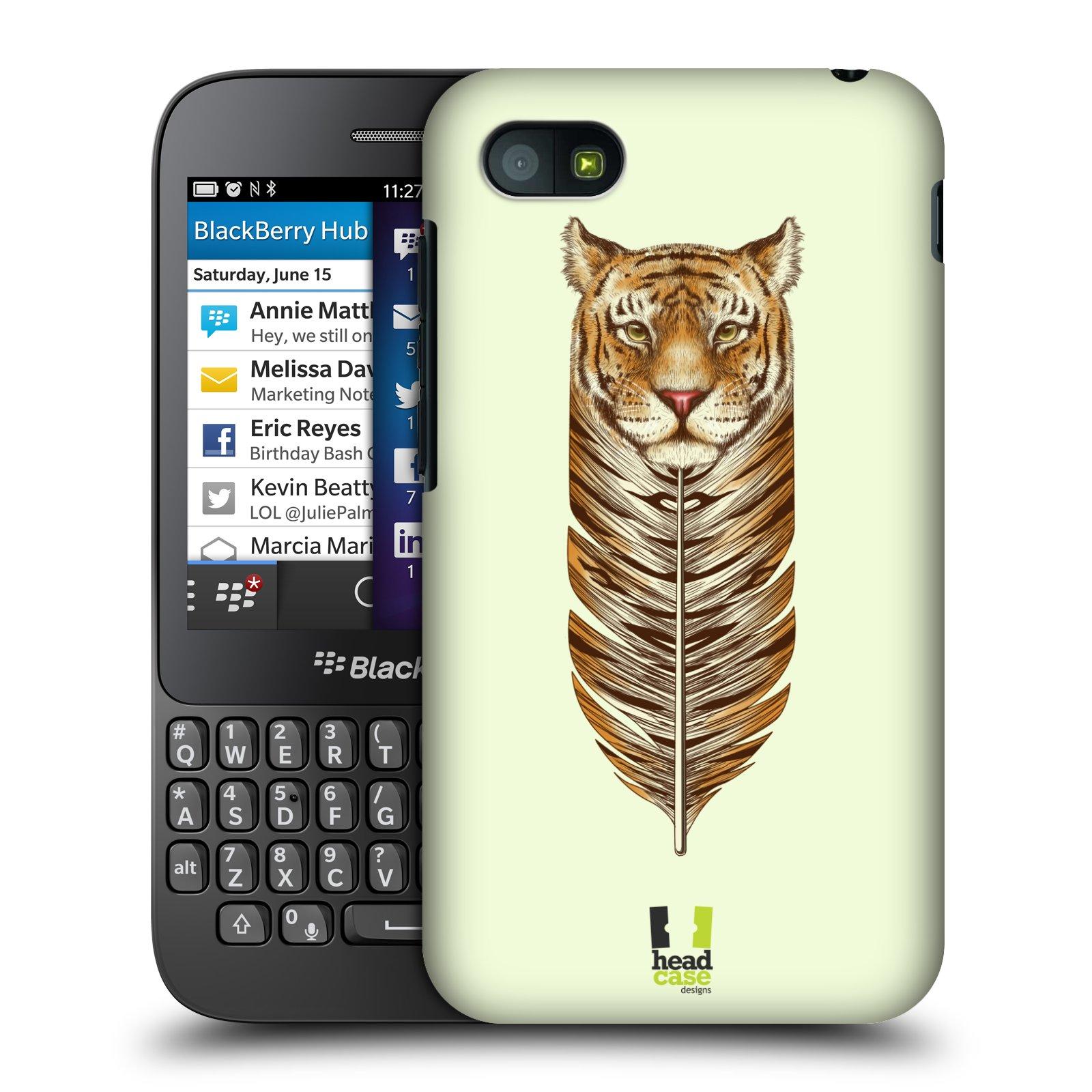 Plastové pouzdro na mobil Blackberry Q5 HEAD CASE PÍRKO TYGR (Kryt či obal na mobilní telefon Blackberry Q5)
