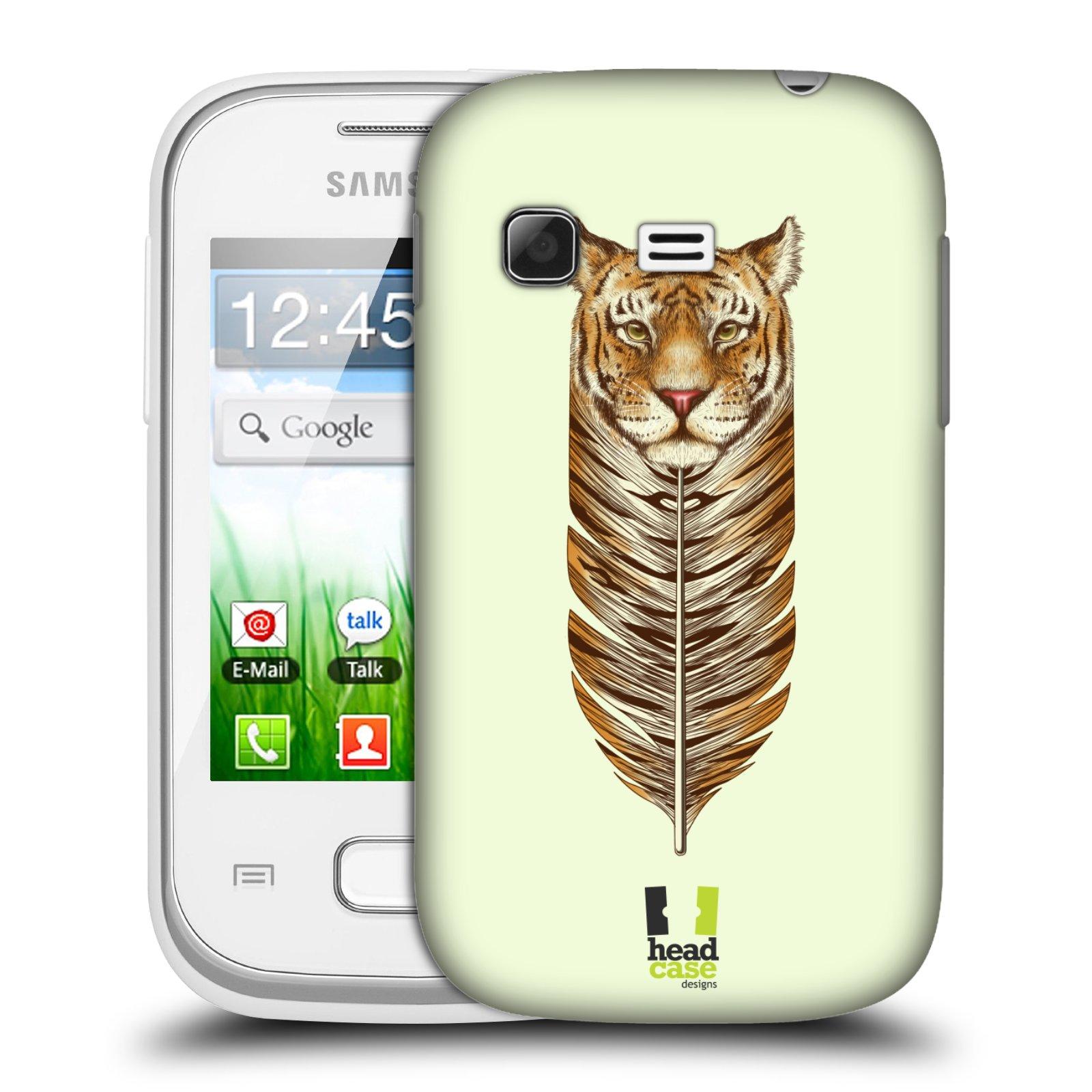Plastové pouzdro na mobil Samsung Galaxy Pocket HEAD CASE PÍRKO TYGR (Kryt či obal na mobilní telefon Samsung Galaxy Pocket GT-S5300)