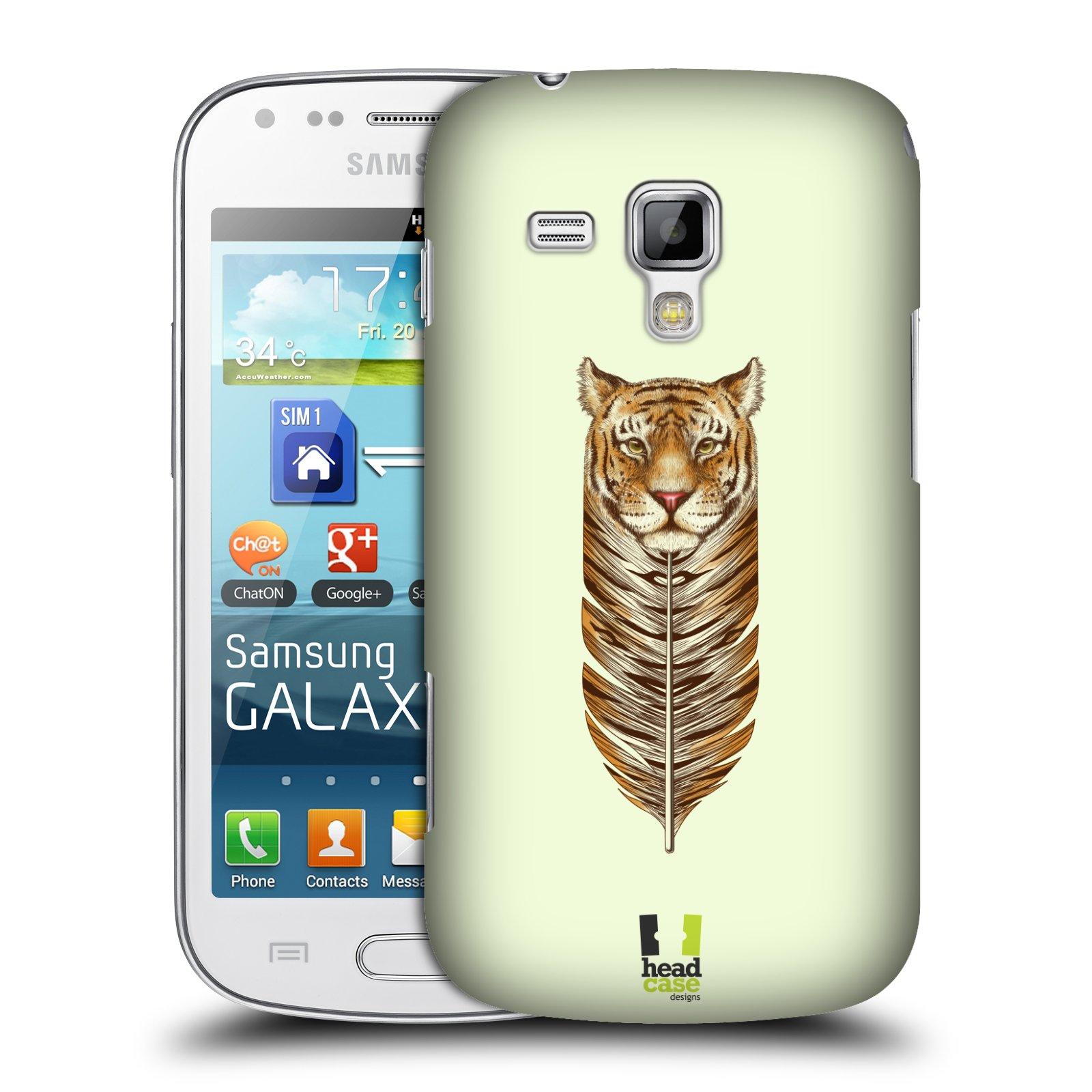 Plastové pouzdro na mobil Samsung Galaxy S Duos HEAD CASE PÍRKO TYGR (Kryt či obal na mobilní telefon Samsung Galaxy S Duos GT-S7562)