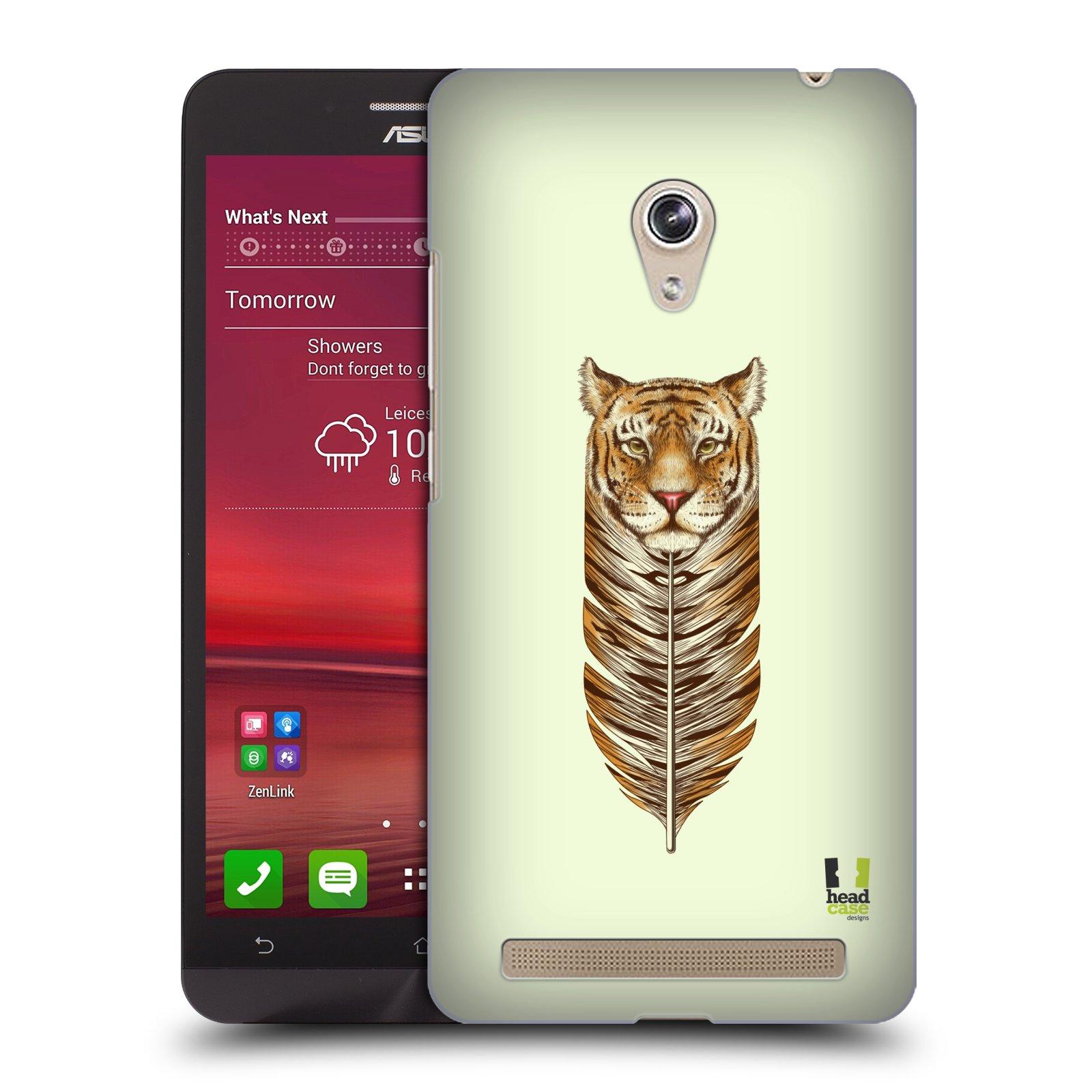 Plastové pouzdro na mobil Asus Zenfone 6 HEAD CASE PÍRKO TYGR (Kryt či obal na mobilní telefon Asus Zenfone 6 A600CG / A601CG)