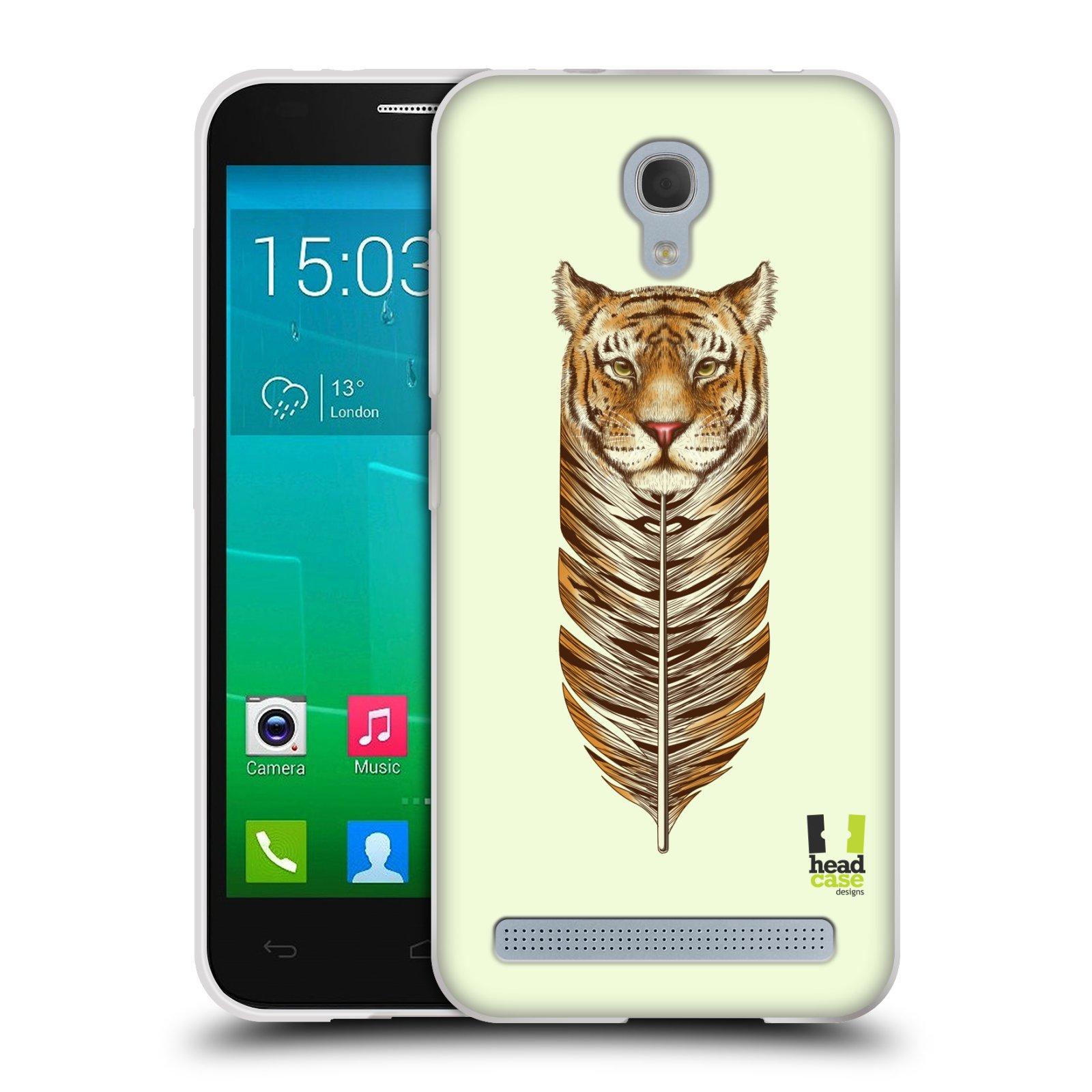 Silikonové pouzdro na mobil Alcatel One Touch Idol 2 Mini S 6036Y HEAD CASE PÍRKO TYGR (Silikonový kryt či obal na mobilní telefon Alcatel Idol 2 Mini S OT-6036Y)