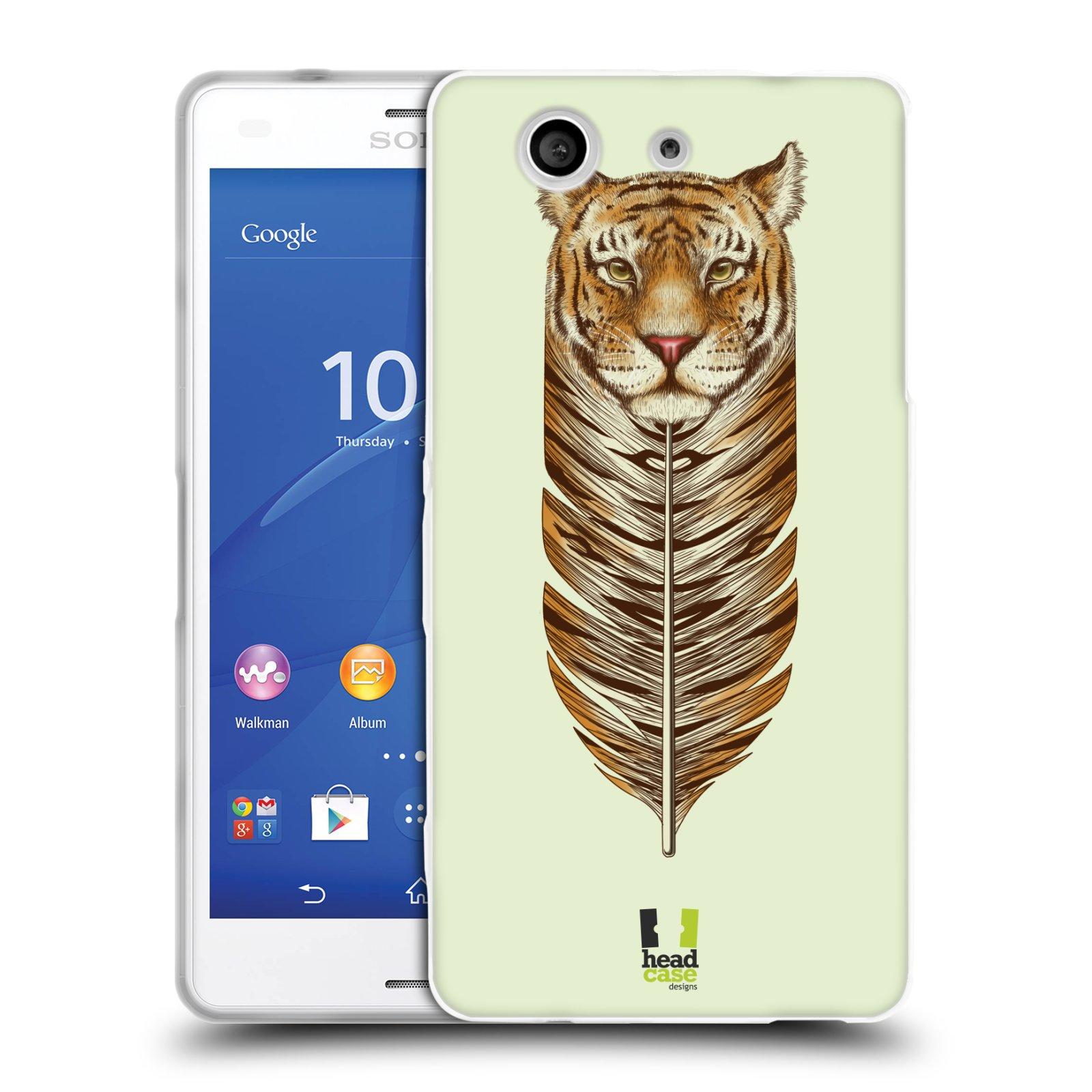 Silikonové pouzdro na mobil Sony Xperia Z3 Compact D5803 HEAD CASE PÍRKO TYGR (Silikonový kryt či obal na mobilní telefon Sony Xperia Z3 Compact)