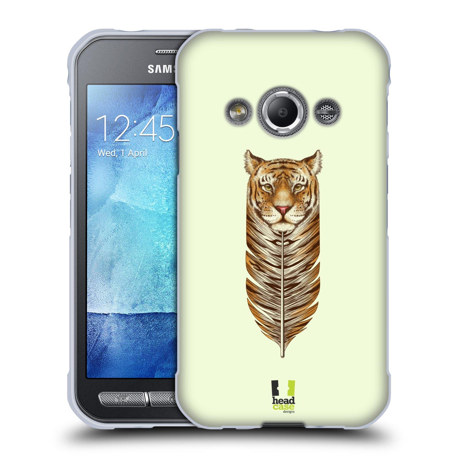 Silikonové pouzdro na mobil Samsung Galaxy Xcover 3 HEAD CASE PÍRKO TYGR (Silikonový kryt či obal na mobilní telefon Samsung Galaxy Xcover 3 SM-G388F)