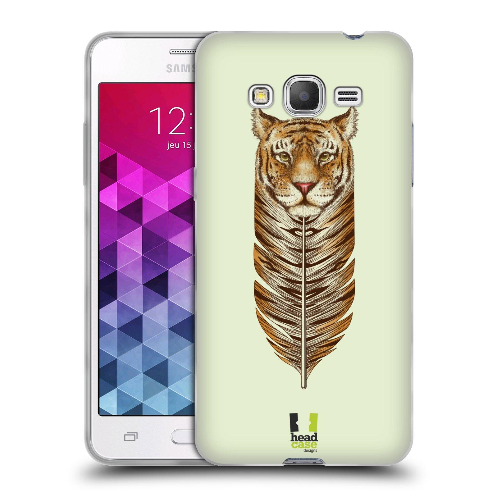 Silikonové pouzdro na mobil Samsung Galaxy Grand Prime VE HEAD CASE PÍRKO TYGR (Silikonový kryt či obal na mobilní telefon Samsung Galaxy Grand Prime VE SM-G531F)