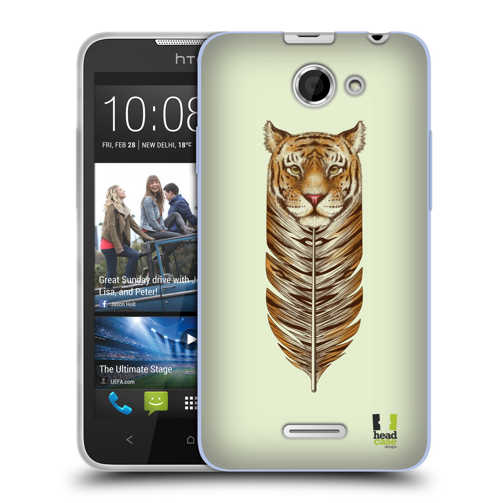 Silikonové pouzdro na mobil HTC Desire 516 HEAD CASE PÍRKO TYGR (Silikonový kryt či obal na mobilní telefon HTC Desire 516 Dual SIM)