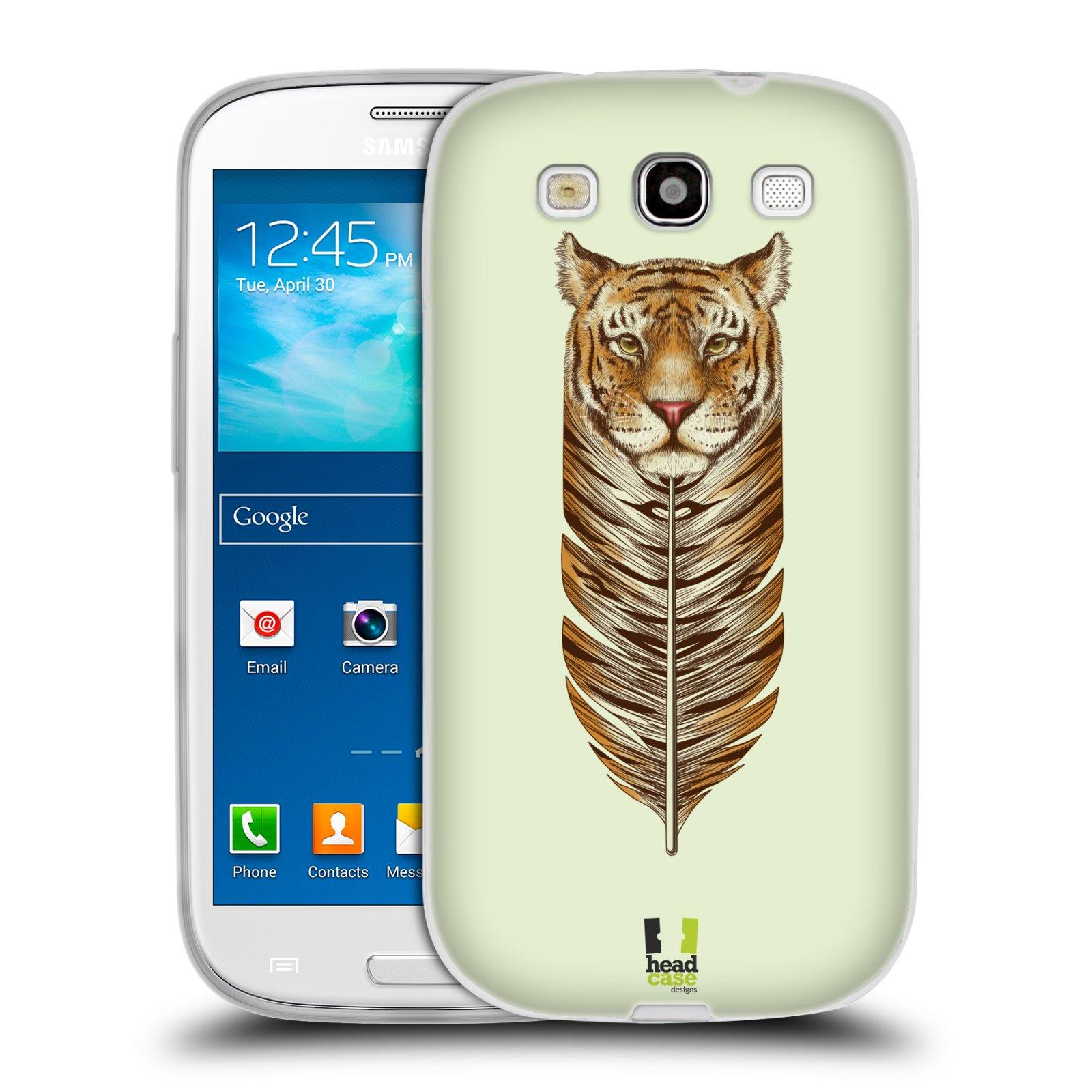 Silikonové pouzdro na mobil Samsung Galaxy S III HEAD CASE PÍRKO TYGR (Silikonový kryt či obal na mobilní telefon Samsung Galaxy S III GT-i9300)