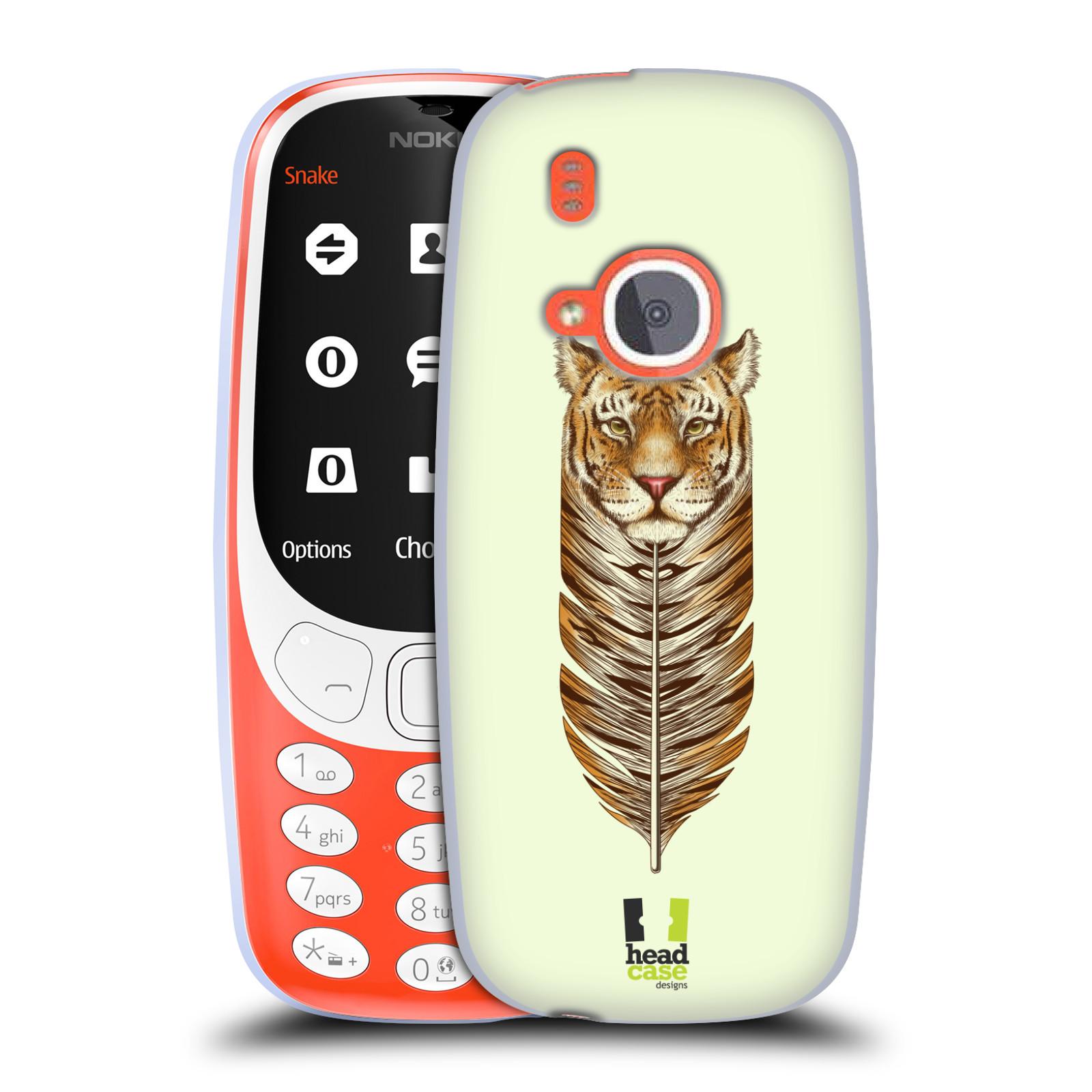 Silikonové pouzdro na mobil Nokia 3310 - Head Case - PÍRKO TYGR (Silikonový kryt či obal na mobilní telefon Nokia 3310 (2017) s motivem PÍRKO TYGR)
