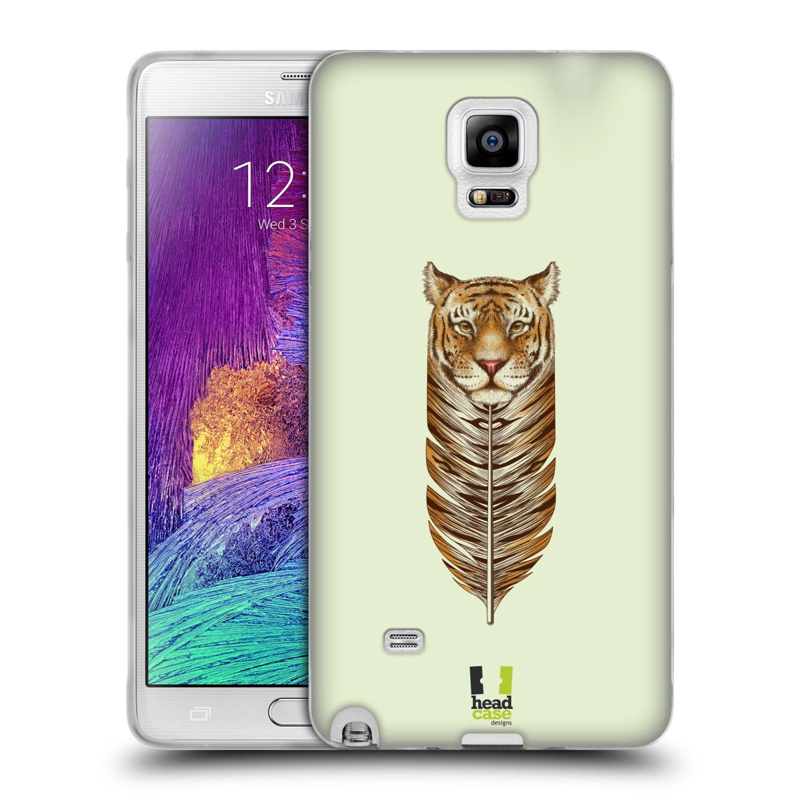 Silikonové pouzdro na mobil Samsung Galaxy Note 4 HEAD CASE PÍRKO TYGR (Silikonový kryt či obal na mobilní telefon Samsung Galaxy Note 4 SM-N910F)