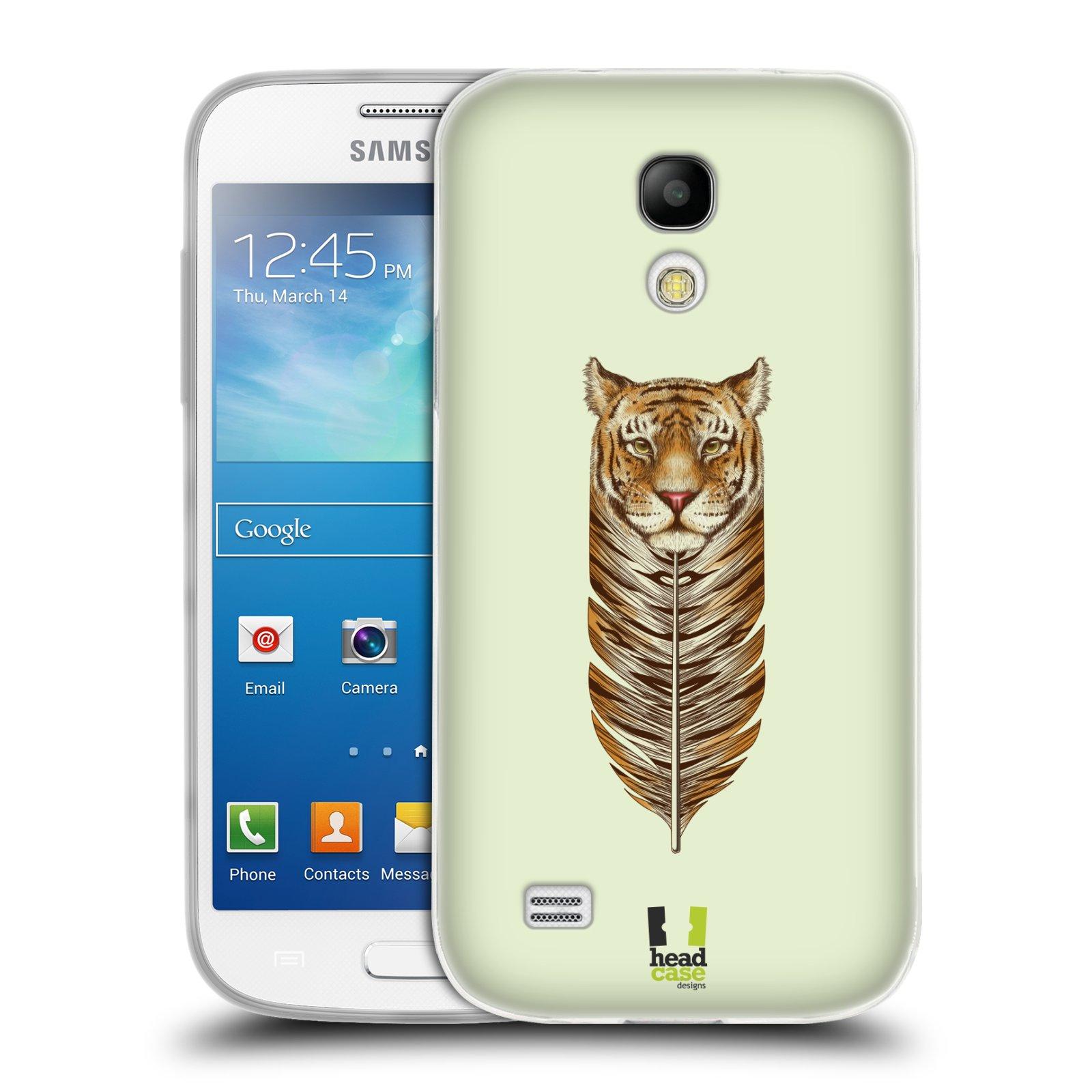 Silikonové pouzdro na mobil Samsung Galaxy S4 Mini HEAD CASE PÍRKO TYGR (Silikonový kryt či obal na mobilní telefon Samsung Galaxy S4 Mini GT-i9195 / i9190 (nepasuje na verzi Black Edition))