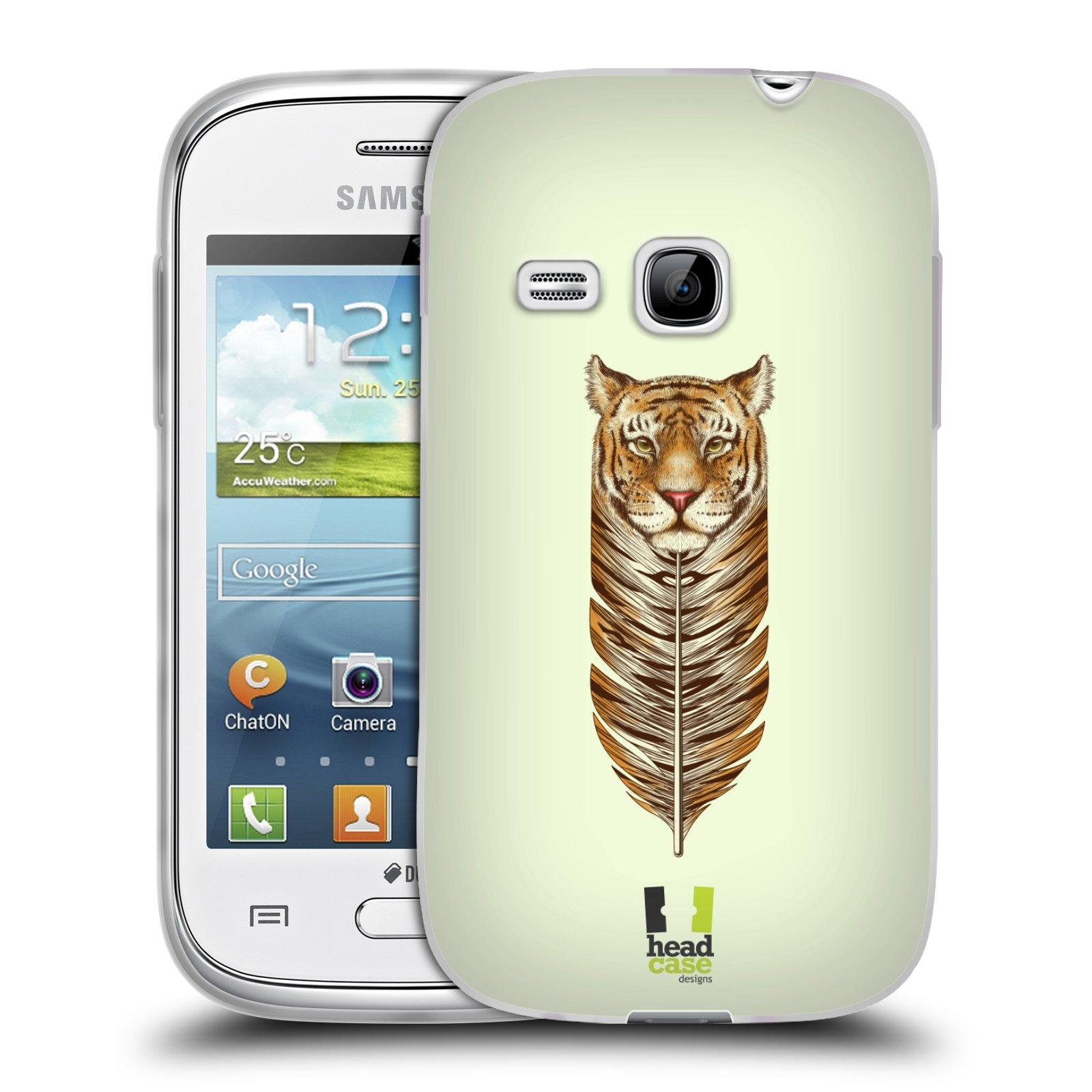 Silikonové pouzdro na mobil Samsung Galaxy Young HEAD CASE PÍRKO TYGR (Silikonový kryt či obal na mobilní telefon Samsung Galaxy Young GT-S6310)