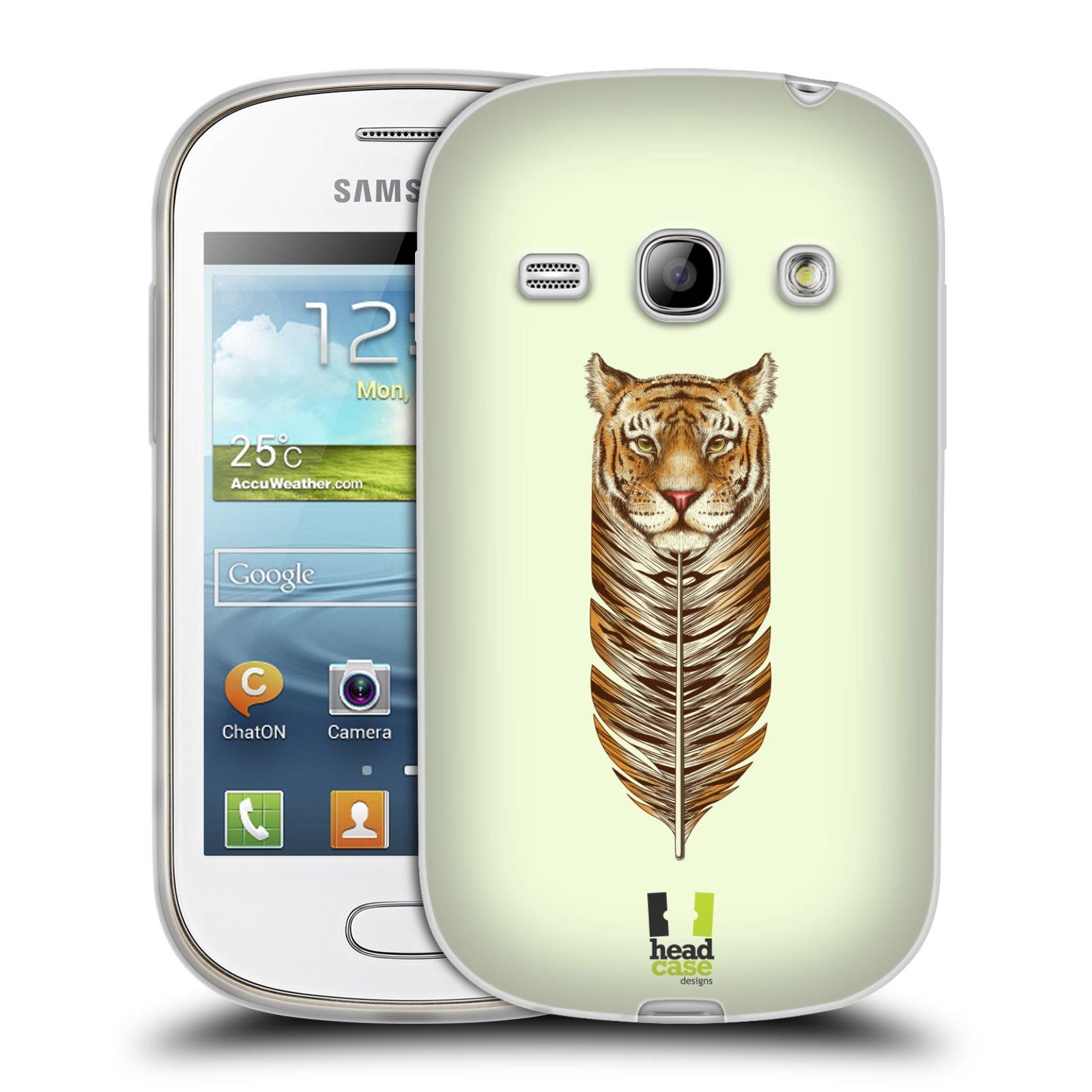 Silikonové pouzdro na mobil Samsung Galaxy Fame HEAD CASE PÍRKO TYGR (Silikonový kryt či obal na mobilní telefon Samsung Galaxy Fame GT-S6810)