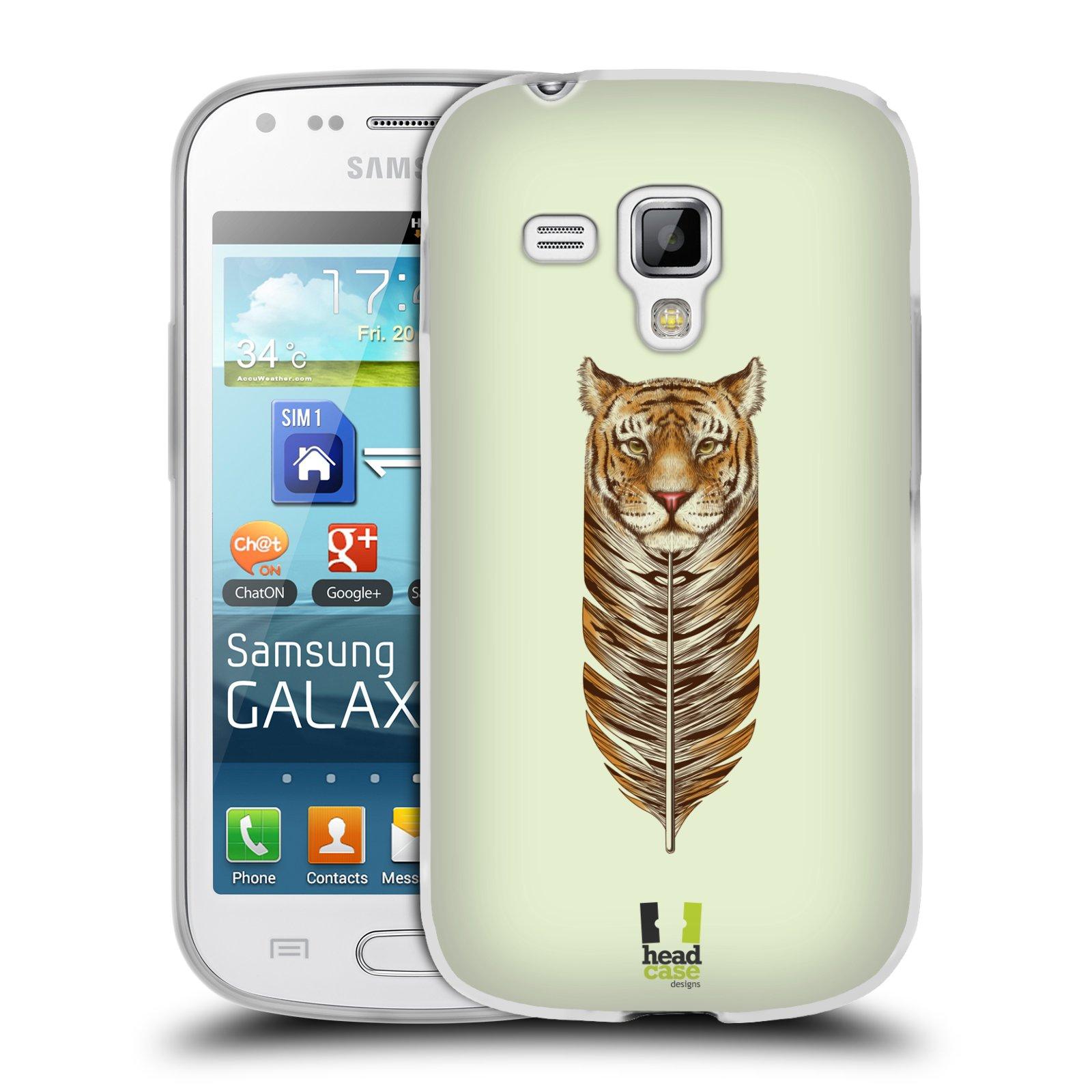 Silikonové pouzdro na mobil Samsung Galaxy Trend HEAD CASE PÍRKO TYGR (Silikonový kryt či obal na mobilní telefon Samsung Galaxy Trend GT-S7560)