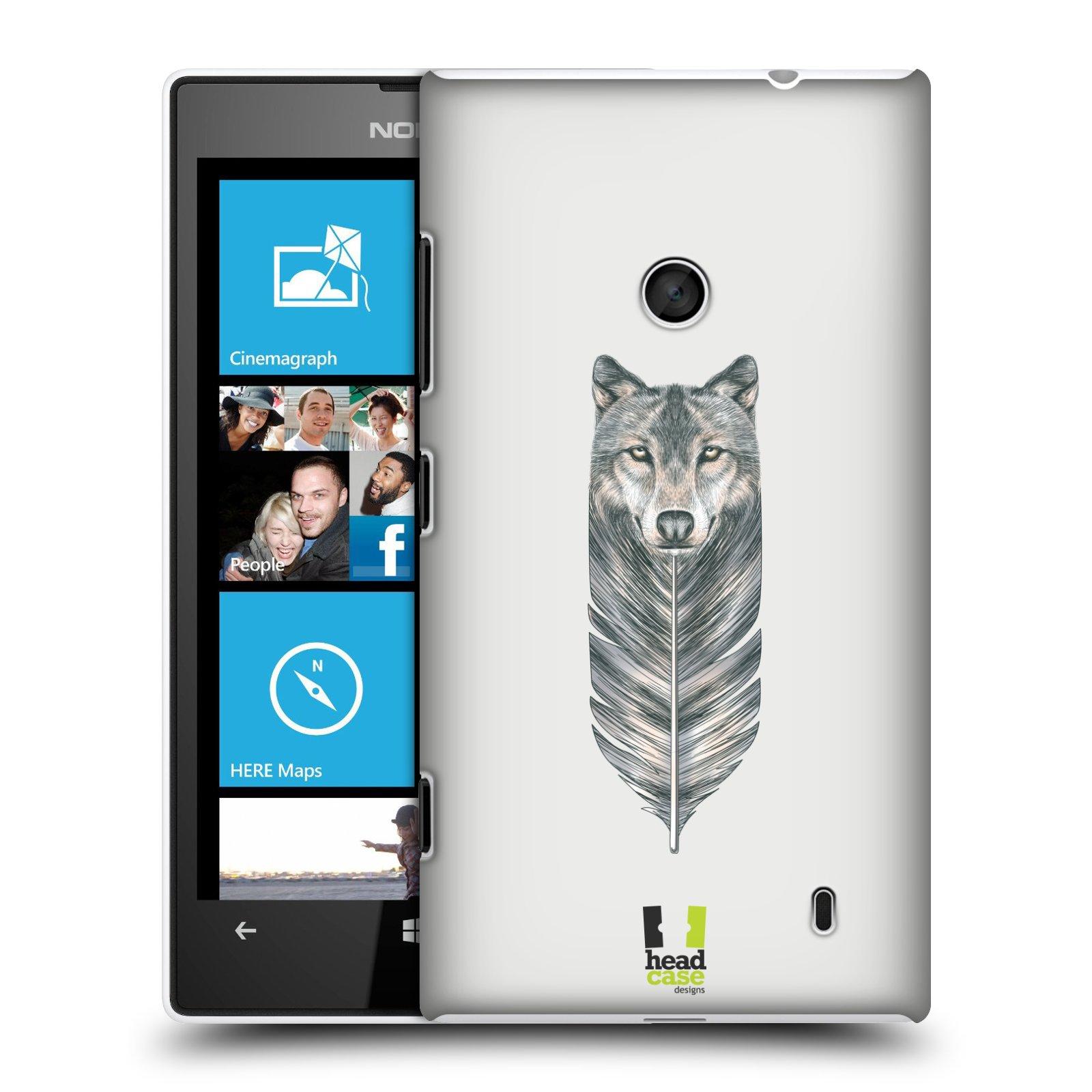 Plastové pouzdro na mobil Nokia Lumia 520 HEAD CASE PÍRKO VLK (Kryt či obal na mobilní telefon Nokia Lumia 520 )