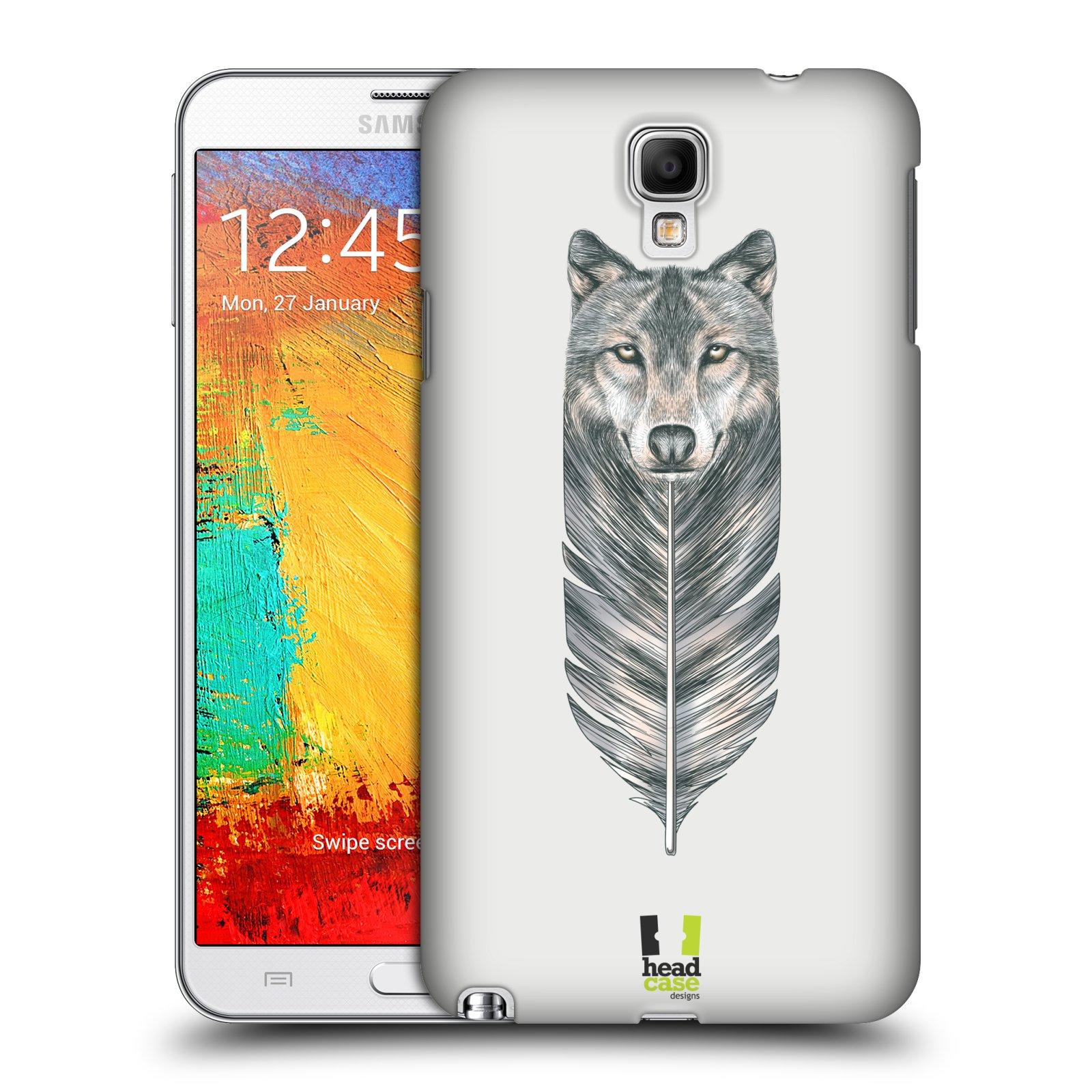 Plastové pouzdro na mobil Samsung Galaxy Note 3 Neo HEAD CASE PÍRKO VLK (Kryt či obal na mobilní telefon Samsung Galaxy Note 3 Neo SM-N7505)