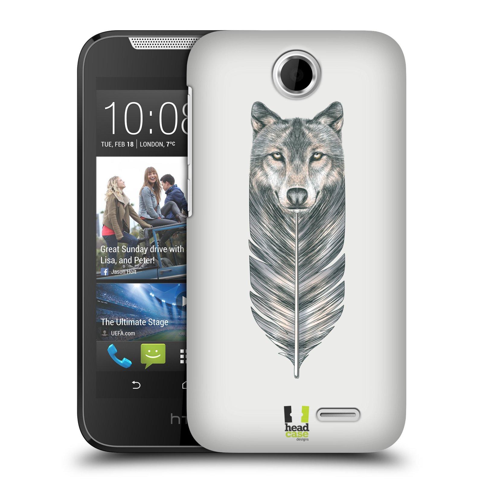 Plastové pouzdro na mobil HTC Desire 310 HEAD CASE PÍRKO VLK (Kryt či obal na mobilní telefon HTC Desire 310)