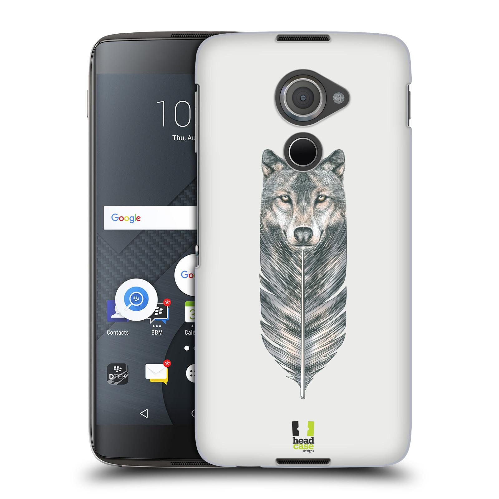 Plastové pouzdro na mobil Blackberry DTEK60 (Argon) - Head Case PÍRKO VLK (Plastový kryt či obal na mobilní telefon Blackberry DTEK60 (Argon))
