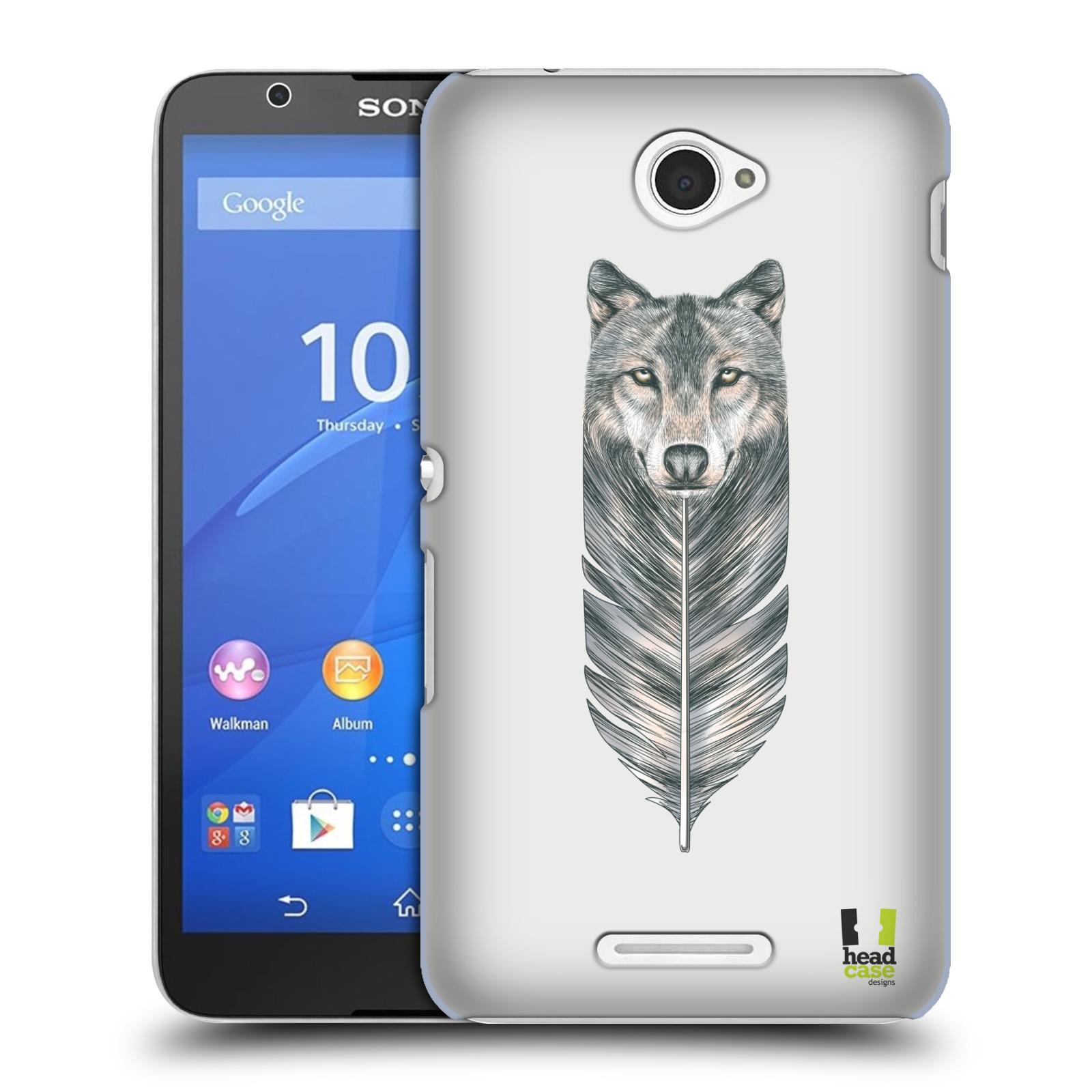 Plastové pouzdro na mobil Sony Xperia E4 E2105 HEAD CASE PÍRKO VLK (Kryt či obal na mobilní telefon Sony Xperia E4 a E4 Dual SIM)