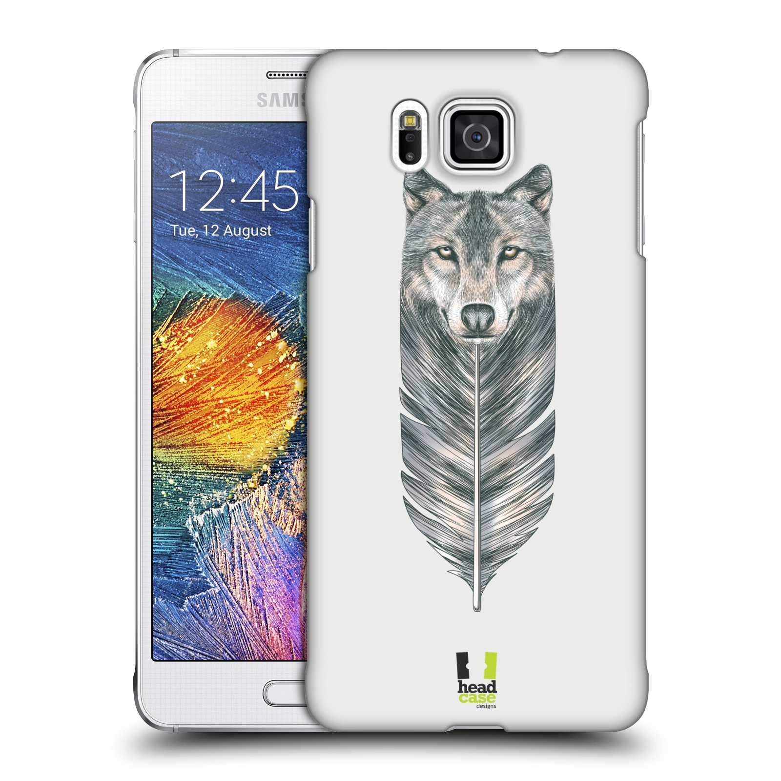 Plastové pouzdro na mobil Samsung Galaxy Alpha HEAD CASE PÍRKO VLK (Kryt či obal na mobilní telefon Samsung Galaxy Alpha SM-G850)