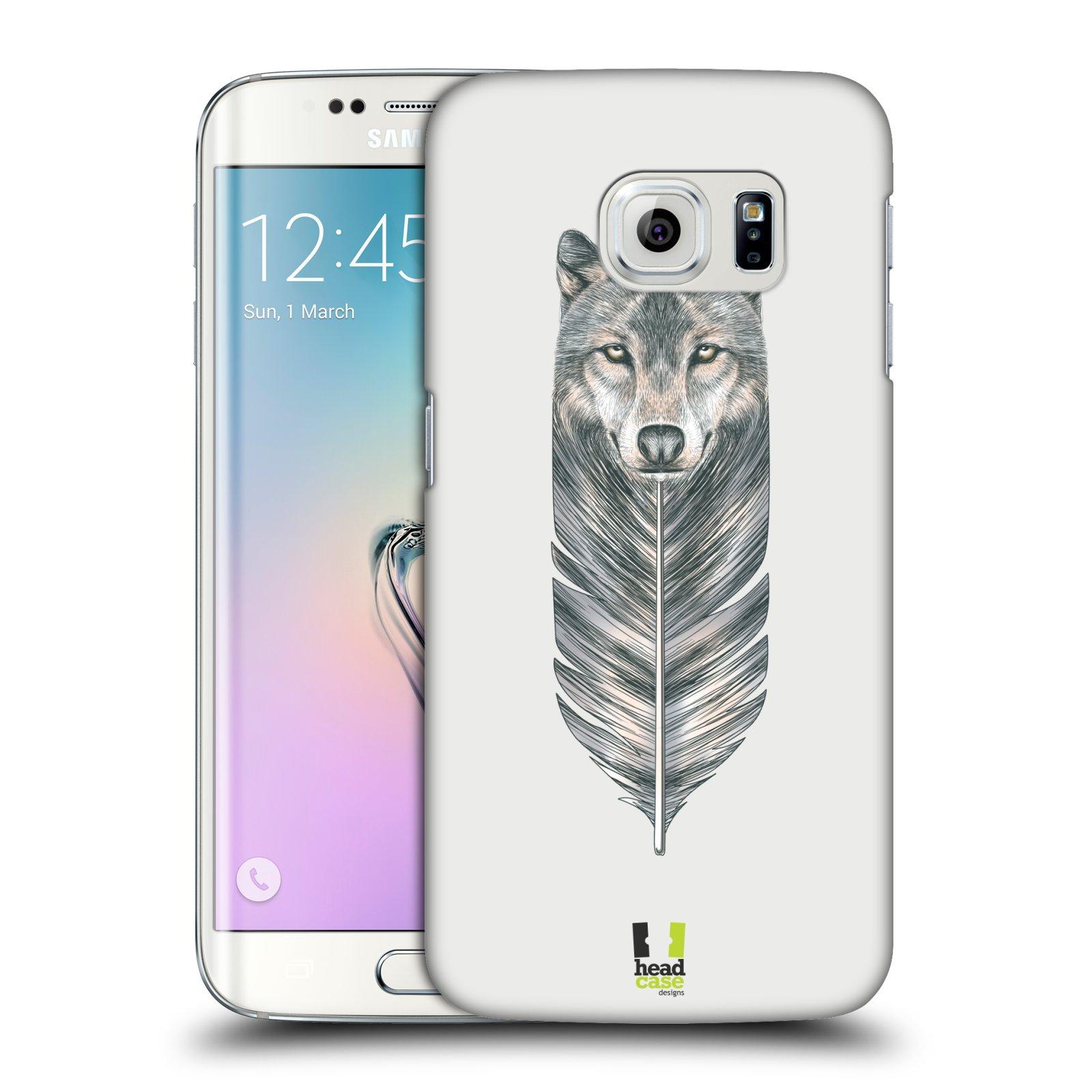 Plastové pouzdro na mobil Samsung Galaxy S6 Edge HEAD CASE PÍRKO VLK (Kryt či obal na mobilní telefon Samsung Galaxy S6 Edge SM-G925F)