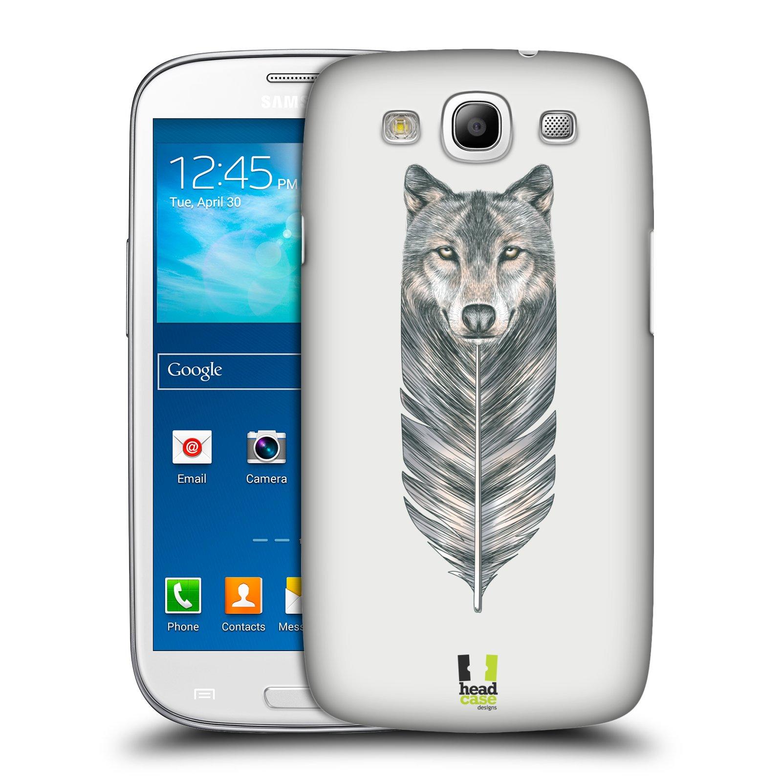 Plastové pouzdro na mobil Samsung Galaxy S3 Neo HEAD CASE PÍRKO VLK