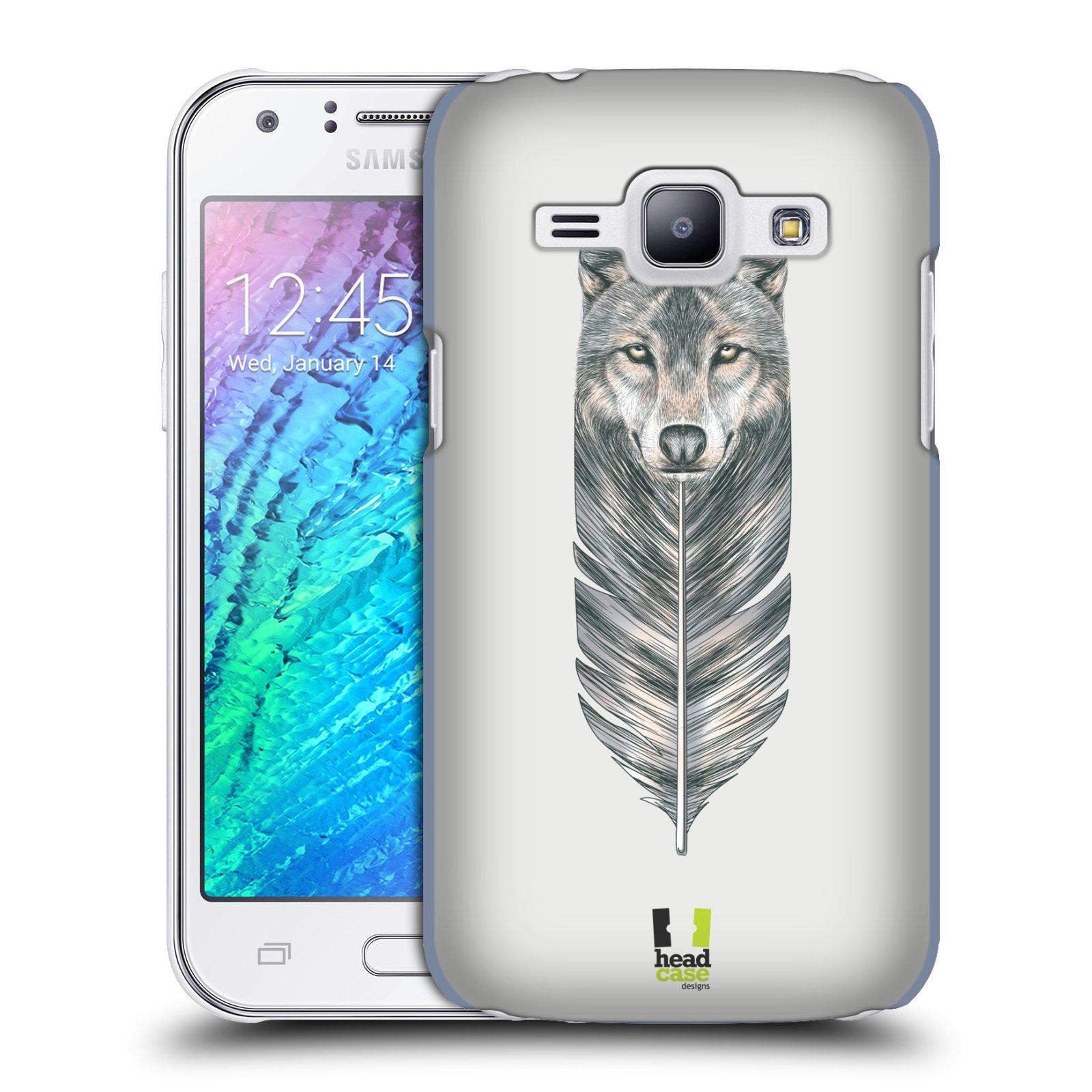 Plastové pouzdro na mobil Samsung Galaxy J1 HEAD CASE PÍRKO VLK (Kryt či obal na mobilní telefon Samsung Galaxy J1 a J1 Duos )