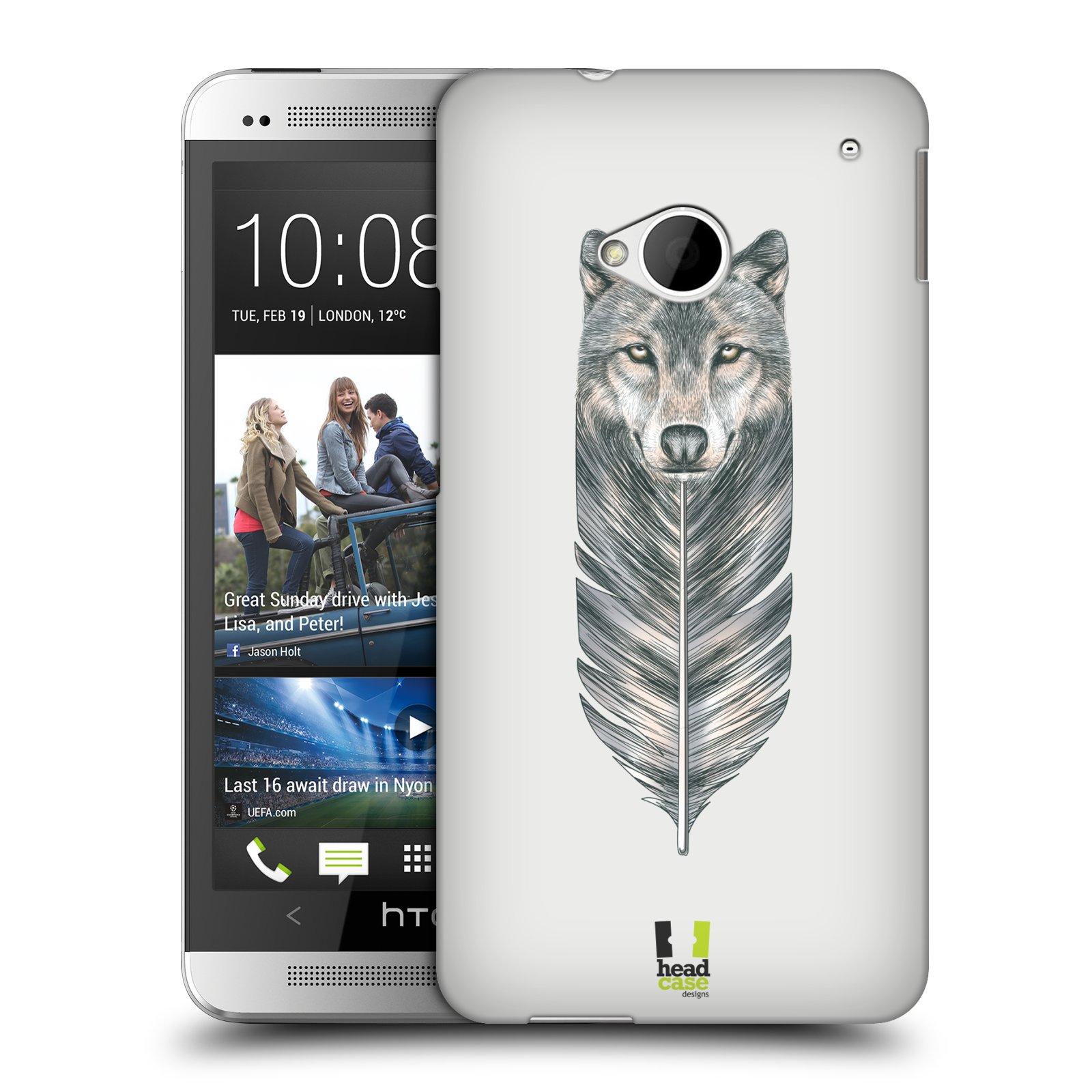 Plastové pouzdro na mobil HTC ONE M7 HEAD CASE PÍRKO VLK (Kryt či obal na mobilní telefon HTC ONE M7)
