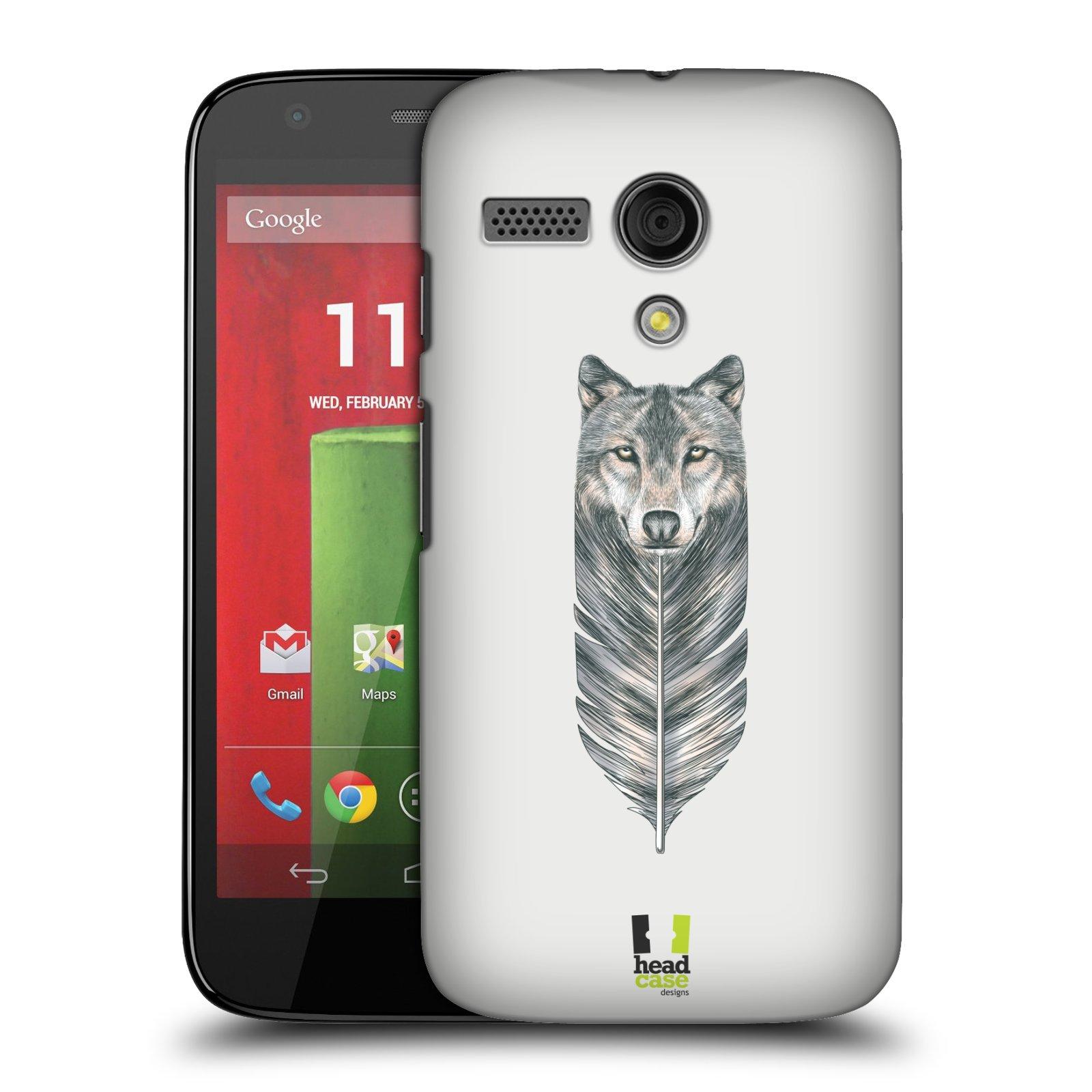 Plastové pouzdro na mobil Motorola Moto G HEAD CASE PÍRKO VLK (Kryt či obal na mobilní telefon Motorola Moto G)