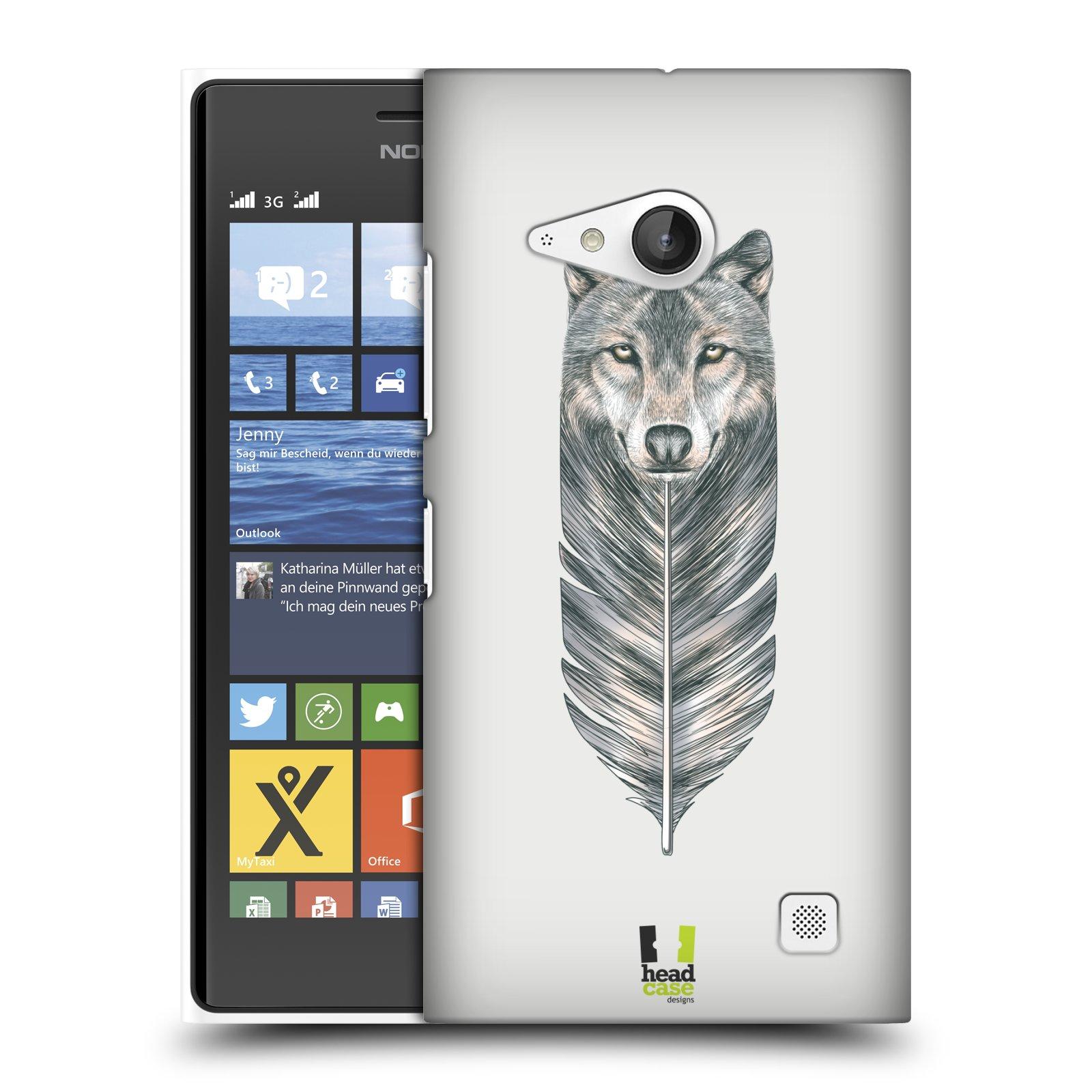 Plastové pouzdro na mobil Nokia Lumia 730 Dual SIM HEAD CASE PÍRKO VLK (Kryt či obal na mobilní telefon Nokia Lumia 730 Dual SIM)