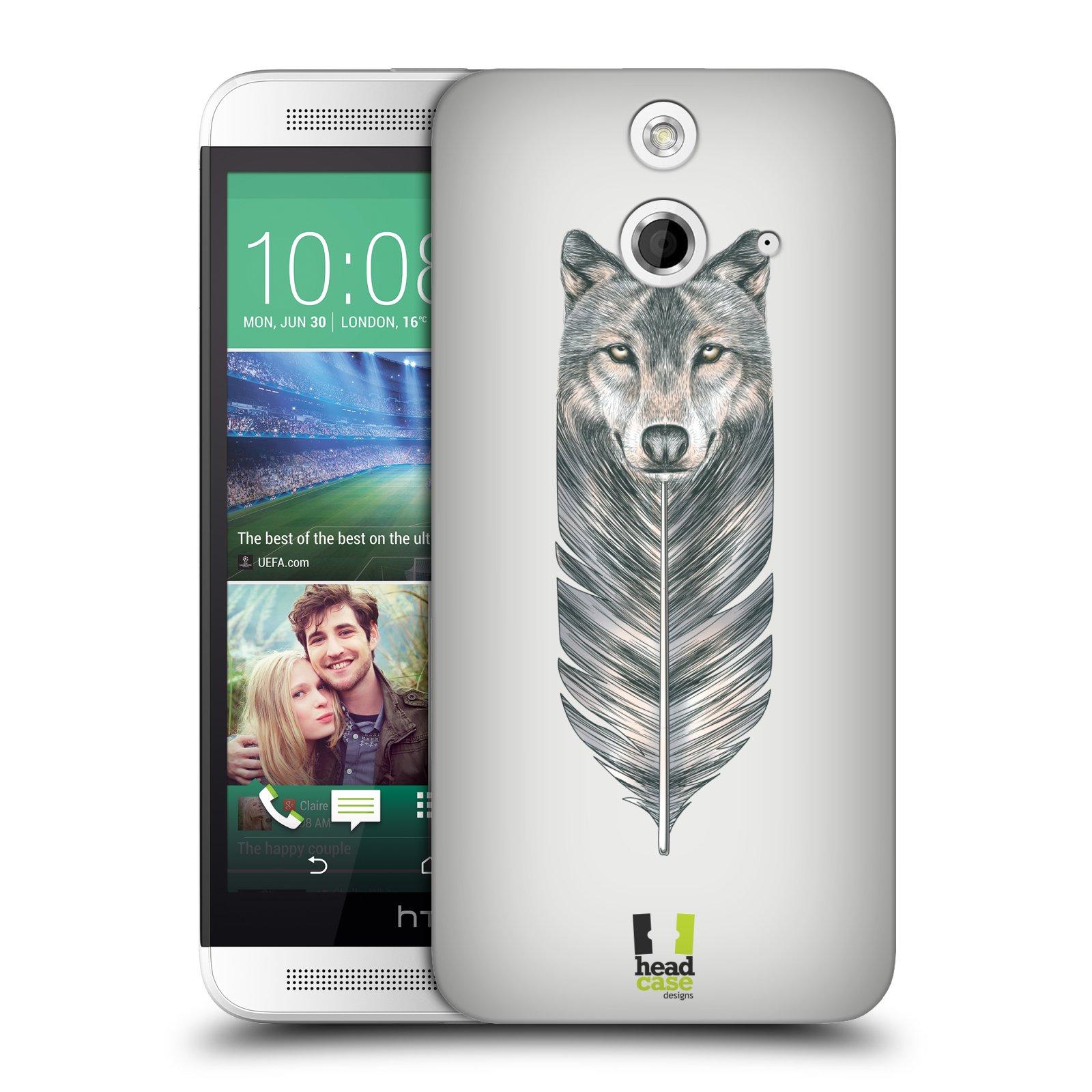 Plastové pouzdro na mobil HTC ONE E8 HEAD CASE PÍRKO VLK (Kryt či obal na mobilní telefon HTC ONE E8)