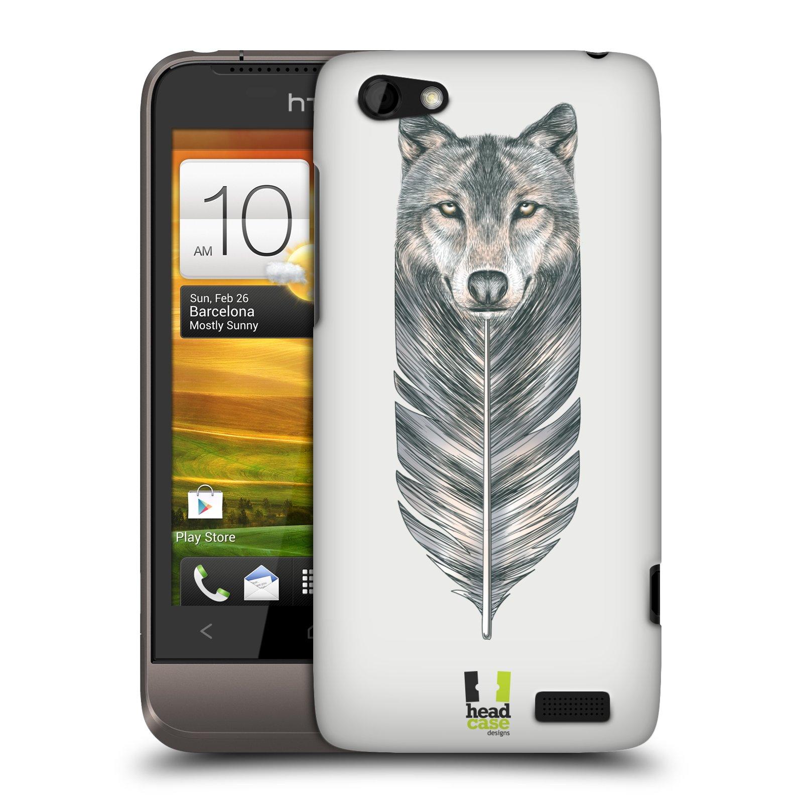Plastové pouzdro na mobil HTC ONE V HEAD CASE PÍRKO VLK (Kryt či obal na mobilní telefon HTC ONE V)