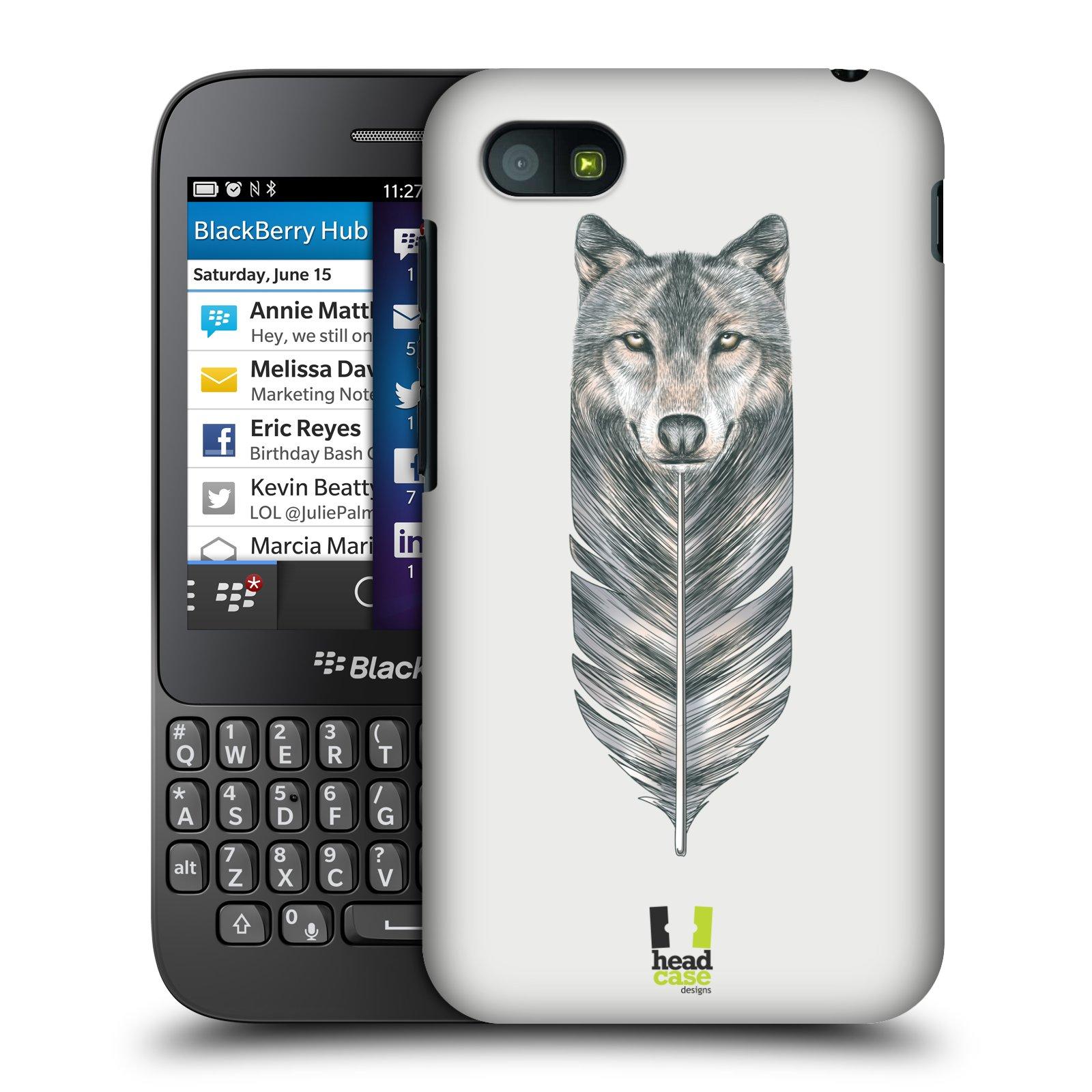 Plastové pouzdro na mobil Blackberry Q5 HEAD CASE PÍRKO VLK (Kryt či obal na mobilní telefon Blackberry Q5)