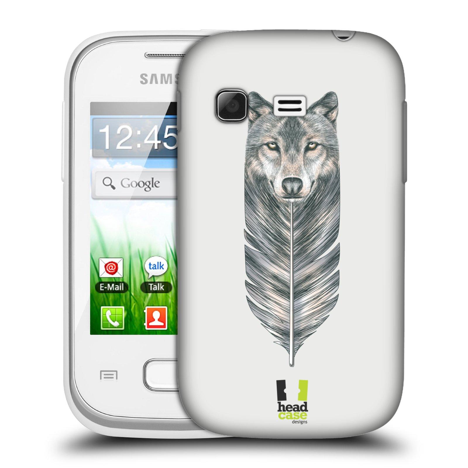 Plastové pouzdro na mobil Samsung Galaxy Pocket HEAD CASE PÍRKO VLK (Kryt či obal na mobilní telefon Samsung Galaxy Pocket GT-S5300)