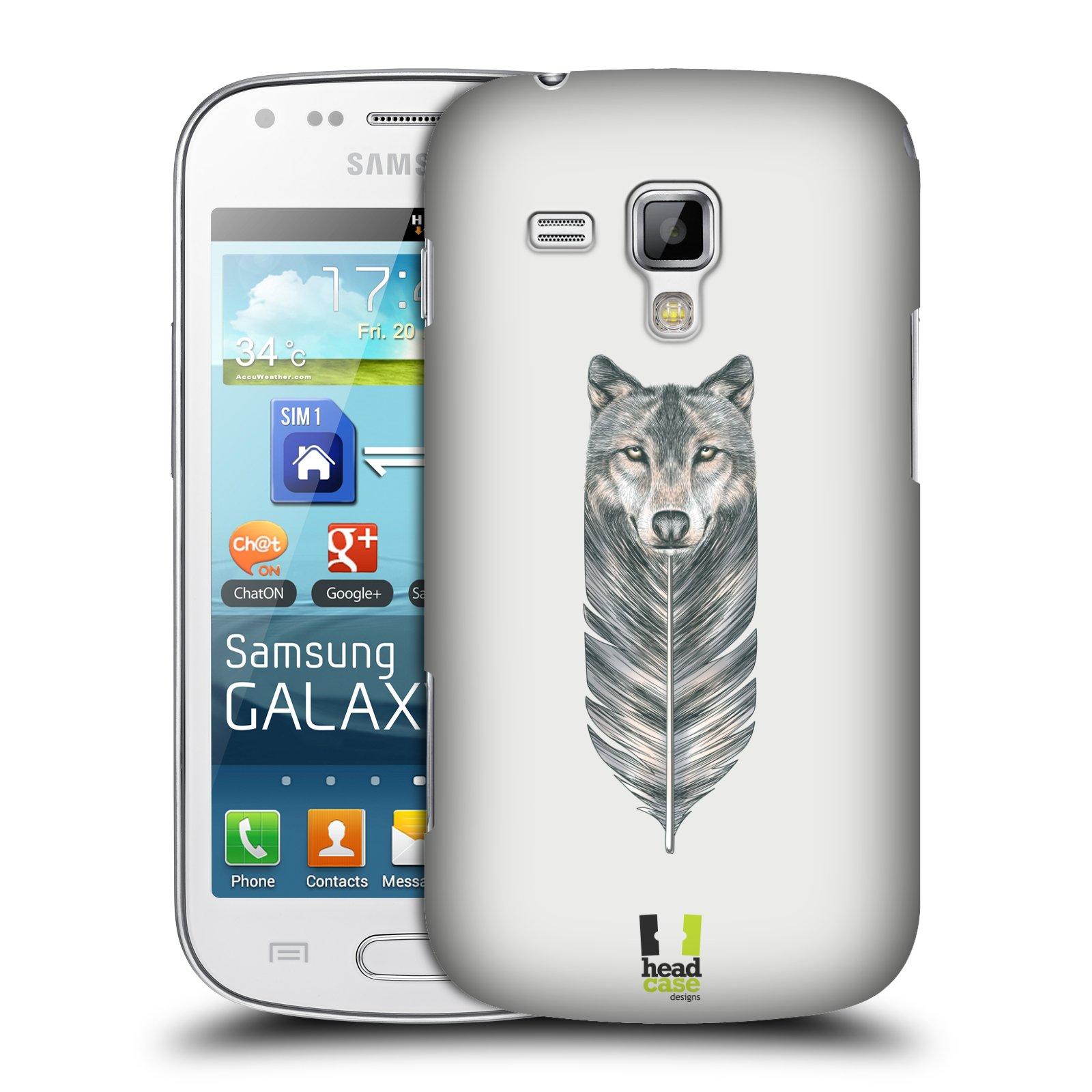 Plastové pouzdro na mobil Samsung Galaxy S Duos HEAD CASE PÍRKO VLK (Kryt či obal na mobilní telefon Samsung Galaxy S Duos GT-S7562)