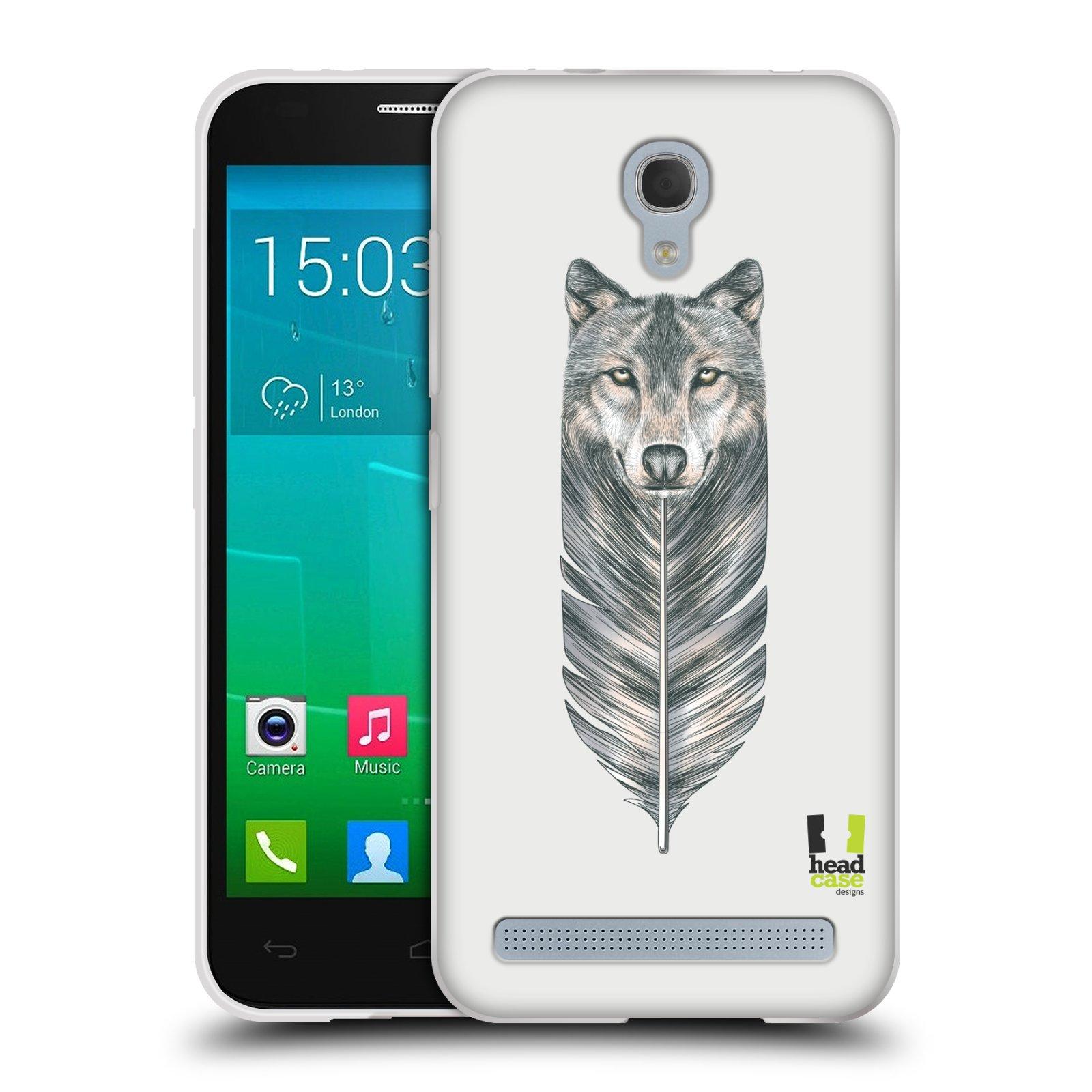 Silikonové pouzdro na mobil Alcatel One Touch Idol 2 Mini S 6036Y HEAD CASE PÍRKO VLK (Silikonový kryt či obal na mobilní telefon Alcatel Idol 2 Mini S OT-6036Y)